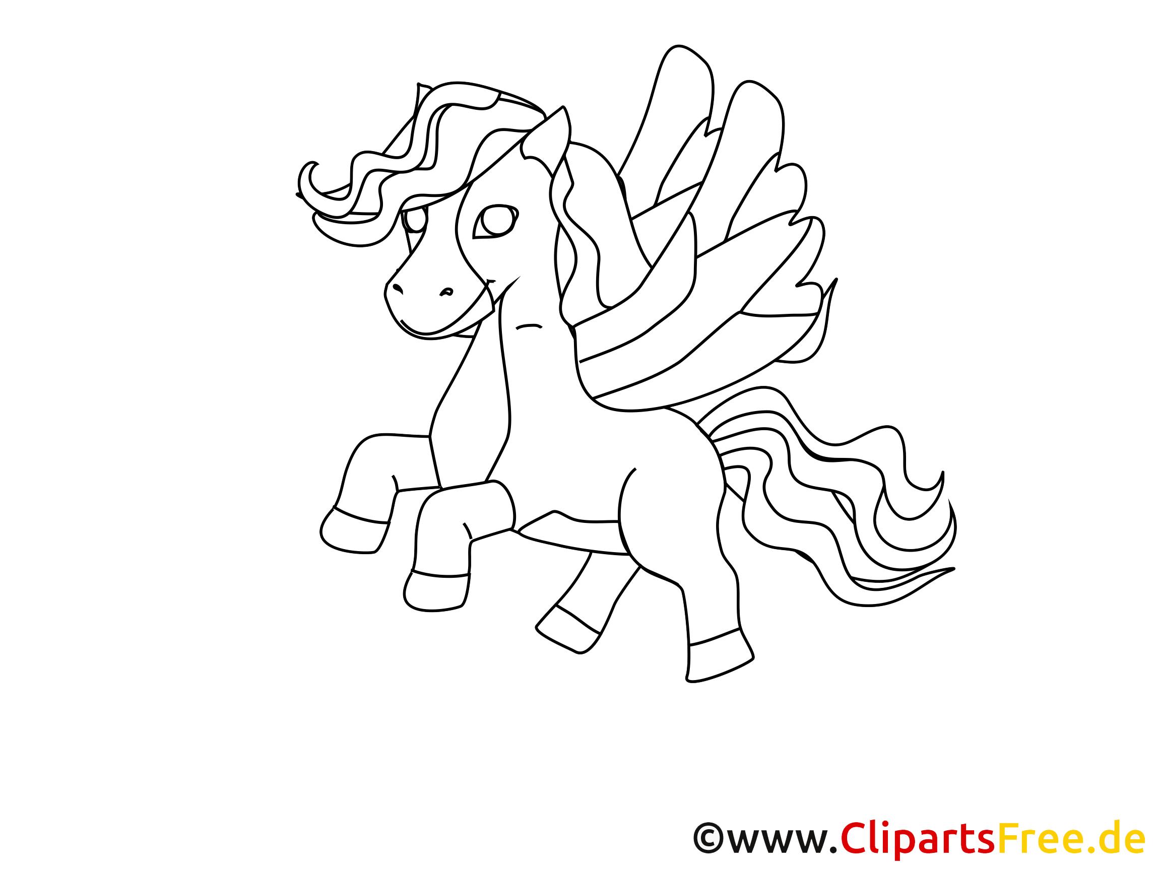 Pégase clipart – Cheval dessins gratuits