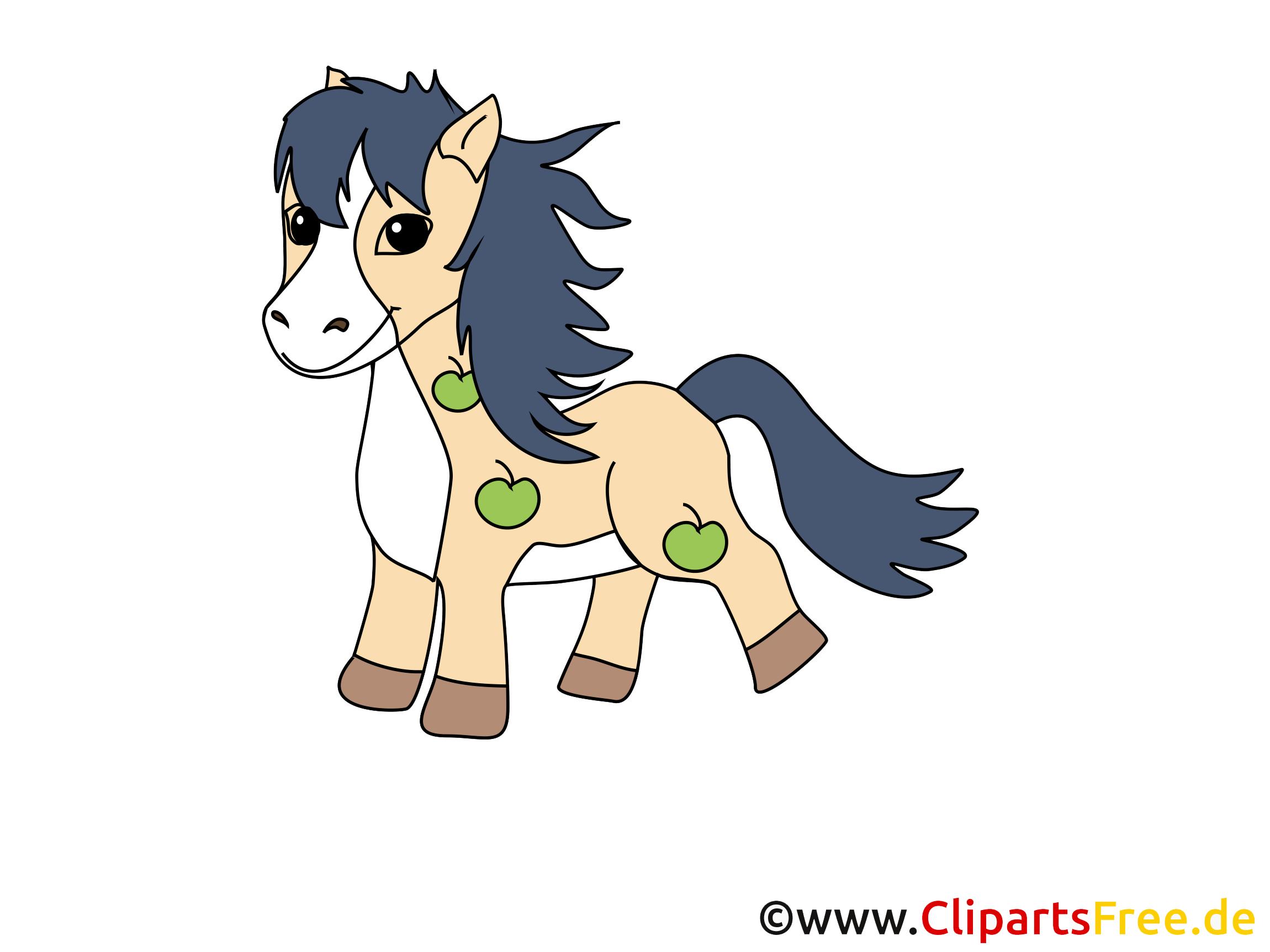 Petit poney image gratuite – Cheval cliparts