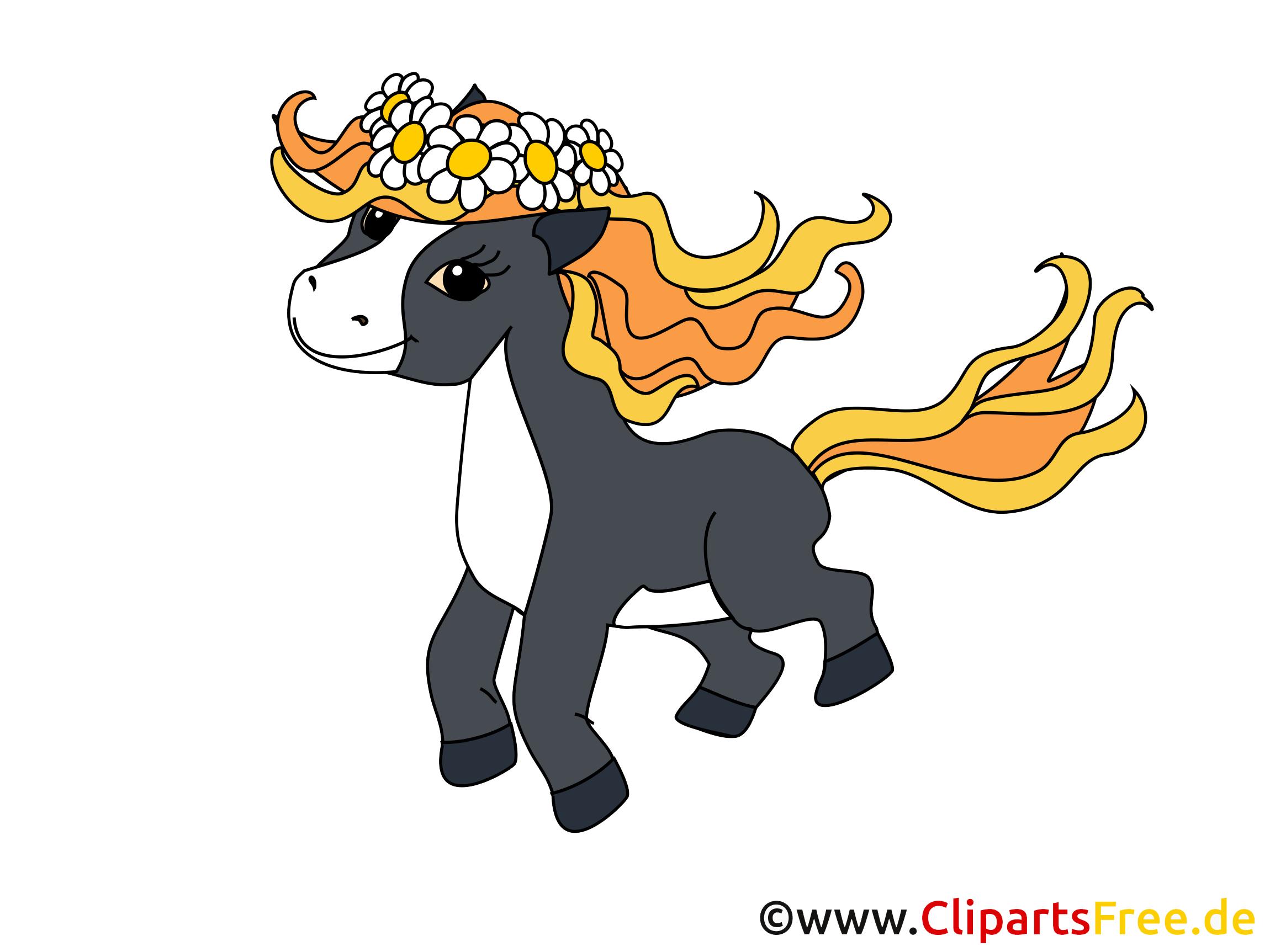 Poney dessin – Cheval à télécharger