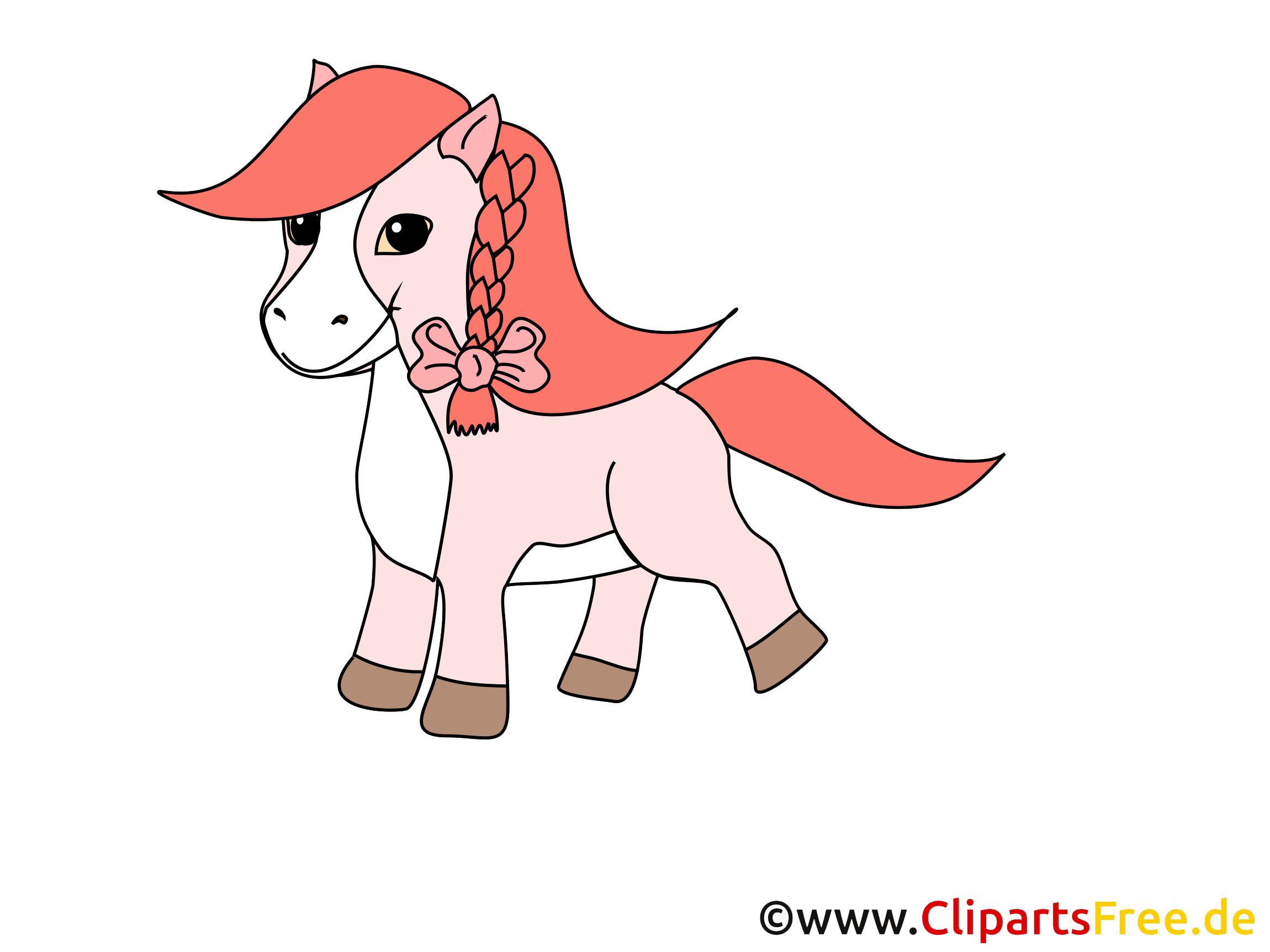 Clipart Cheval Gratuit rose poney clipart gratuit – cheval images - chevaux dessin, picture