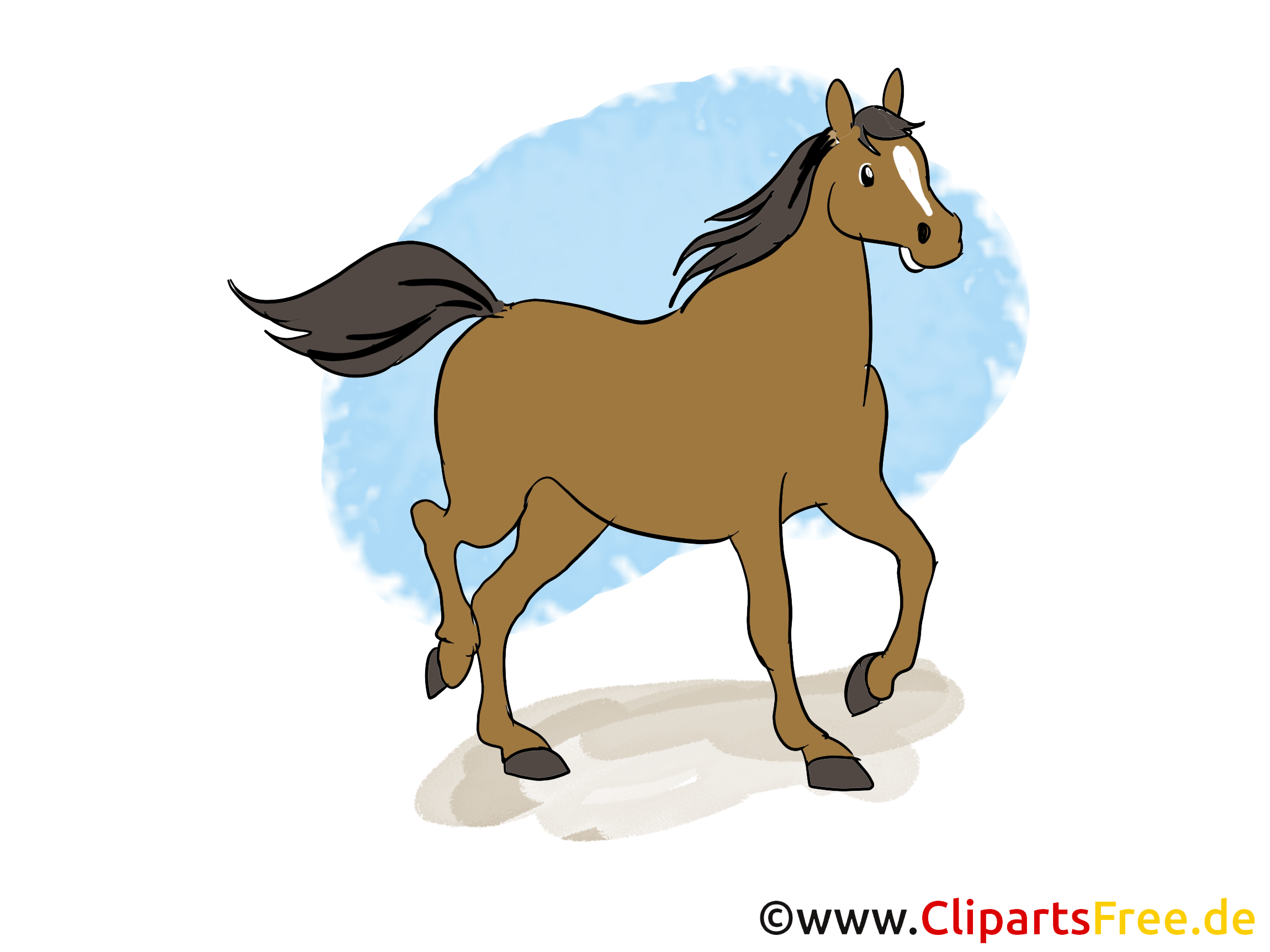Trotte dessins gratuits – Cheval clipart