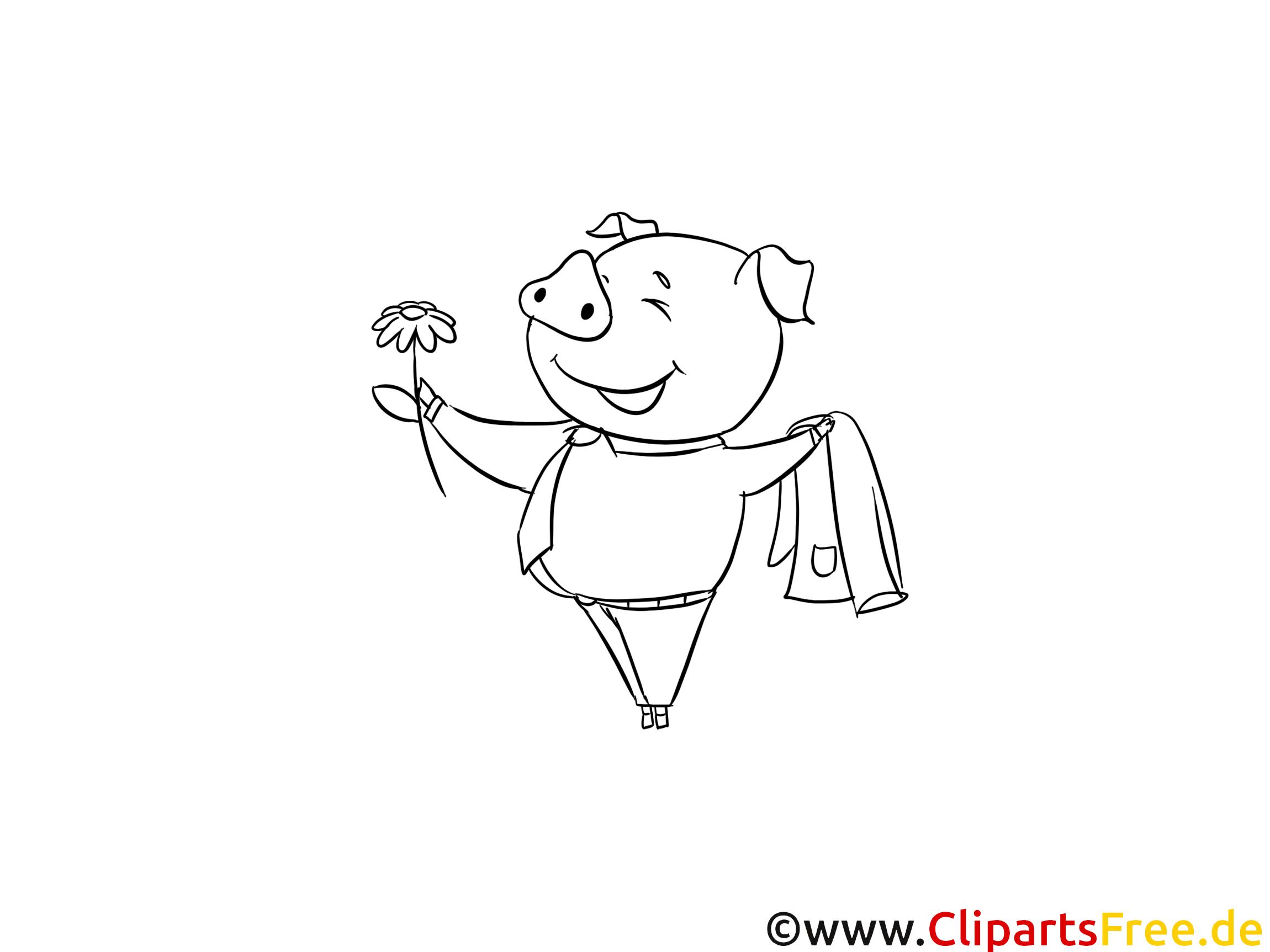 Cochon clip art gratuit – Animal à imprimer