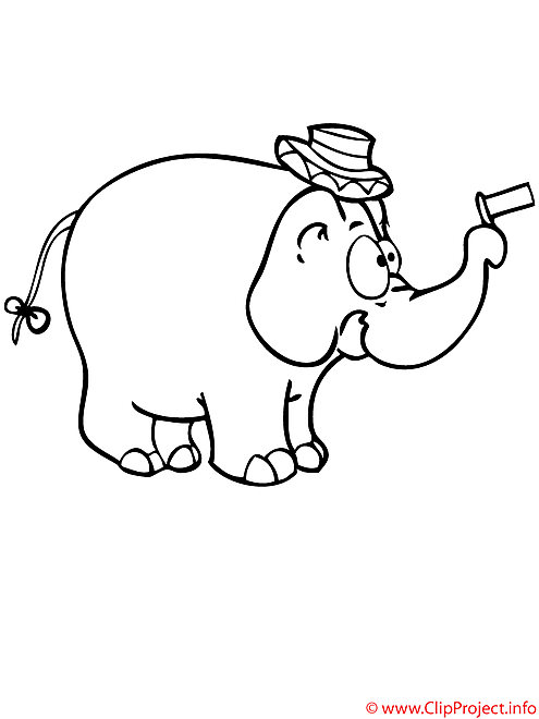 Elephant coloriage