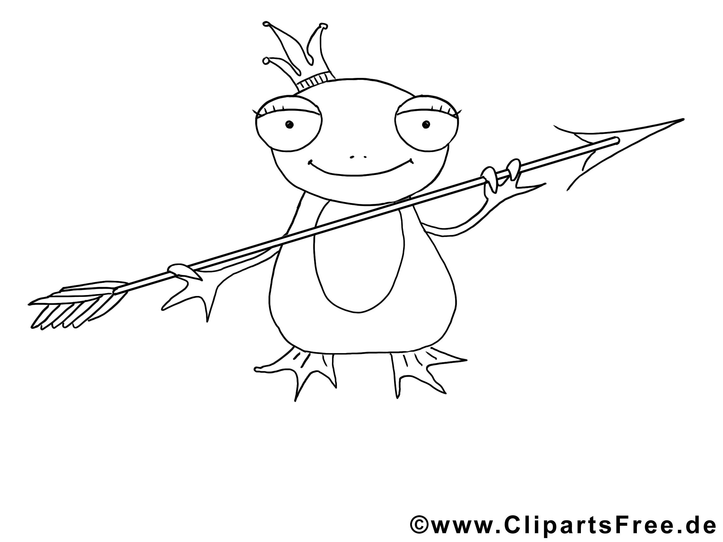 Grenouille clipart gratuit – Animal à colorier