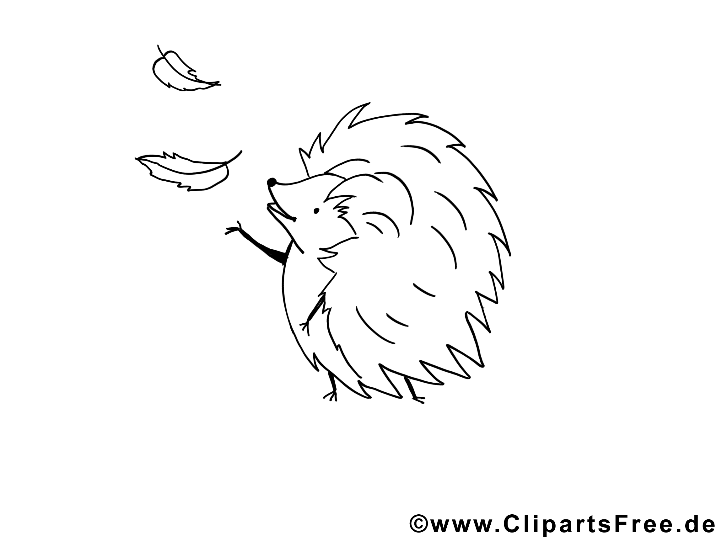 Hérisson clipart – Animal dessins à colorier