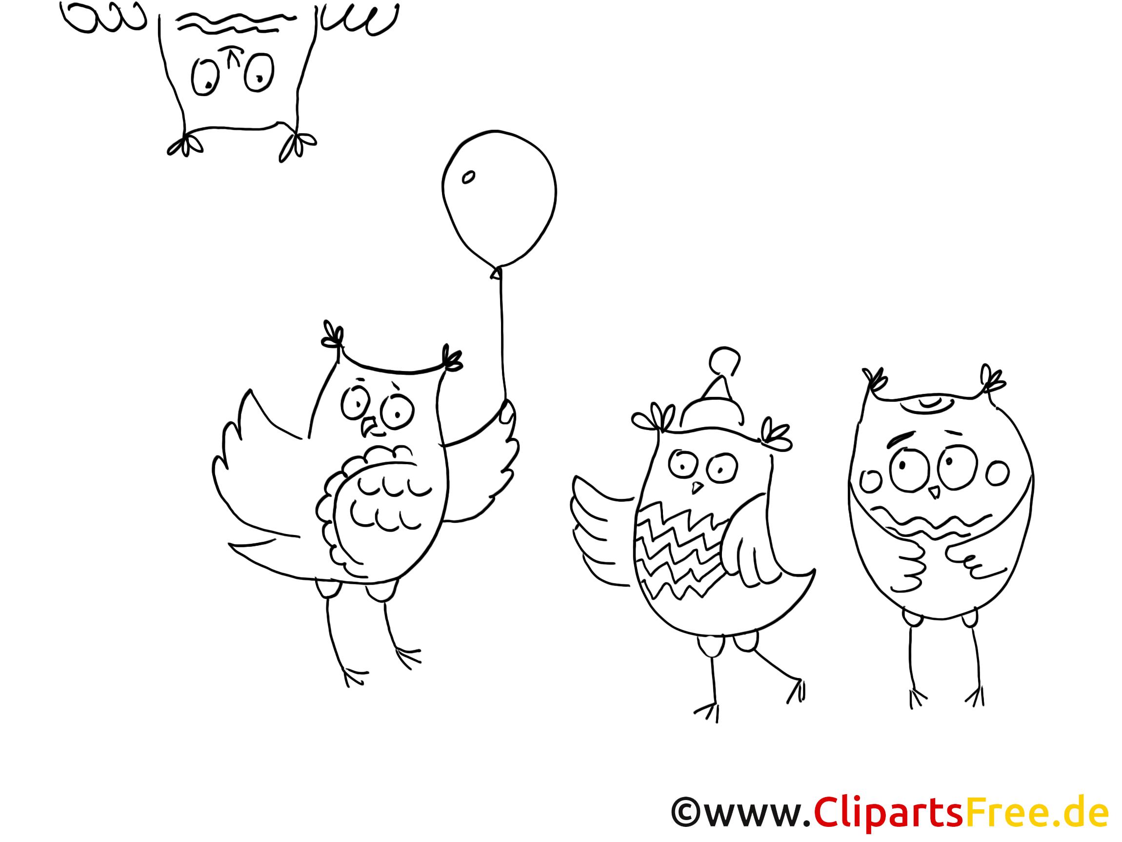 Hiboux dessin – Coloriage animal à télécharger