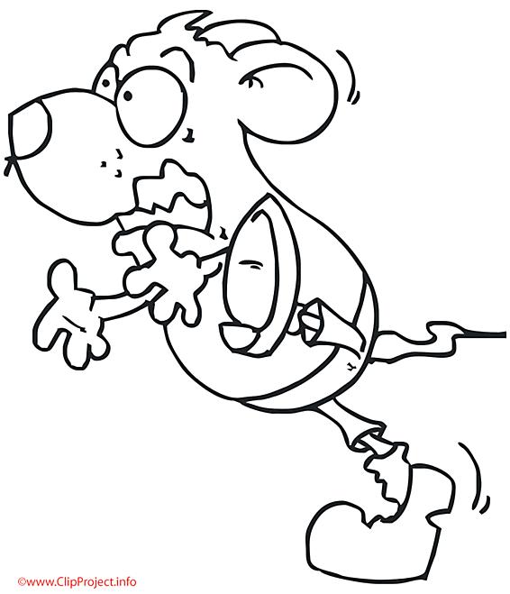 La souris court coloriage