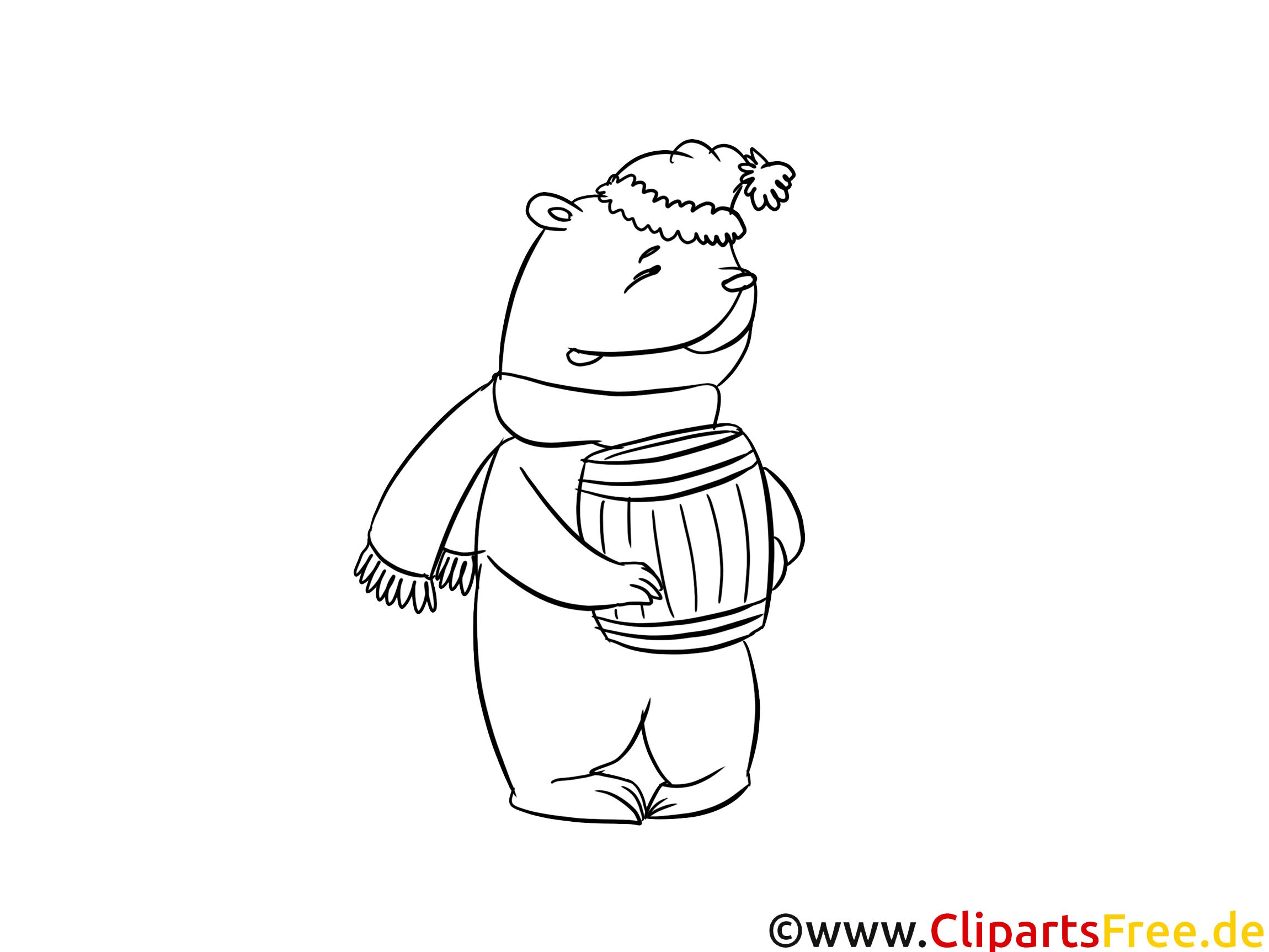 Miel ours image gratuite – Animal à colorier