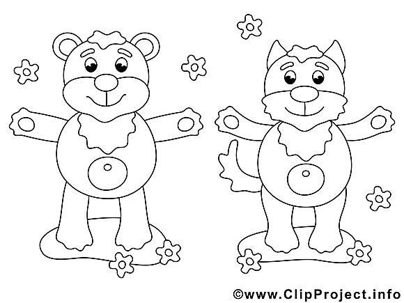 Renard dessins gratuits – Animal à colorier