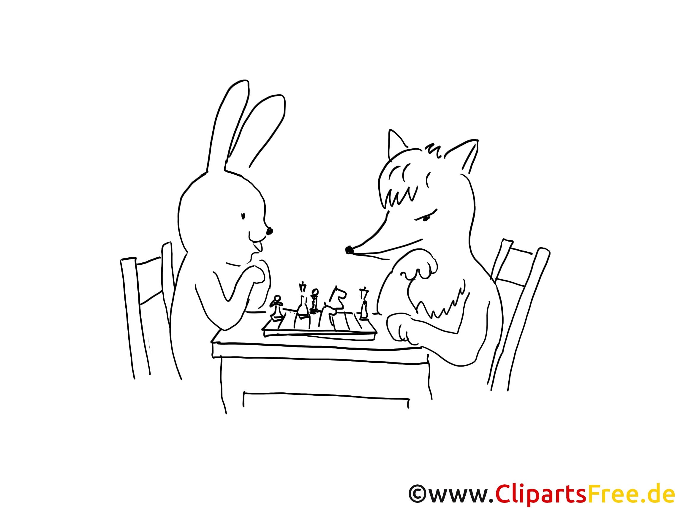 Renard lapin dessin gratuit – Animal à colorier