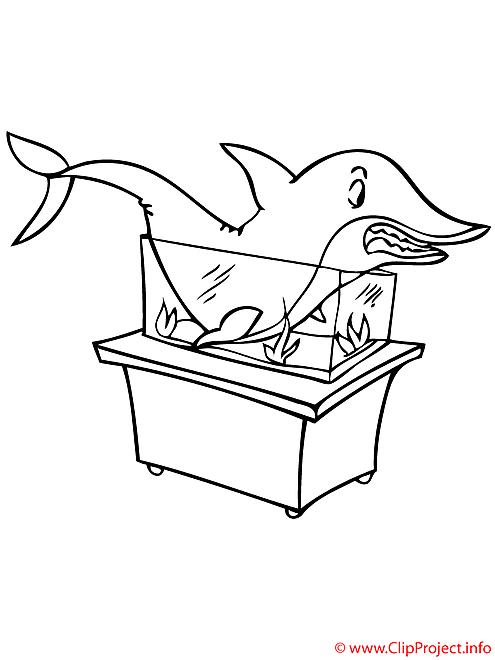 Aquarium coloriage