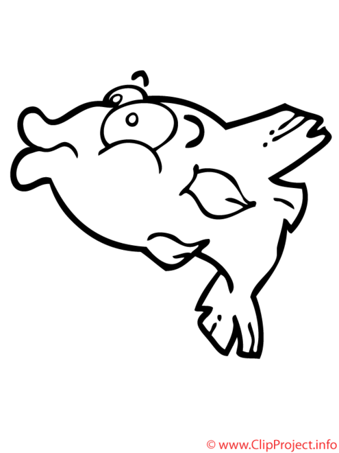 Piranha coloriage