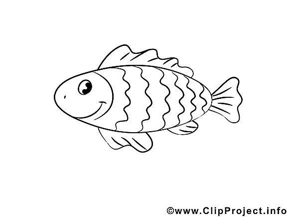 Poisson clipart – Animal dessins à colorier