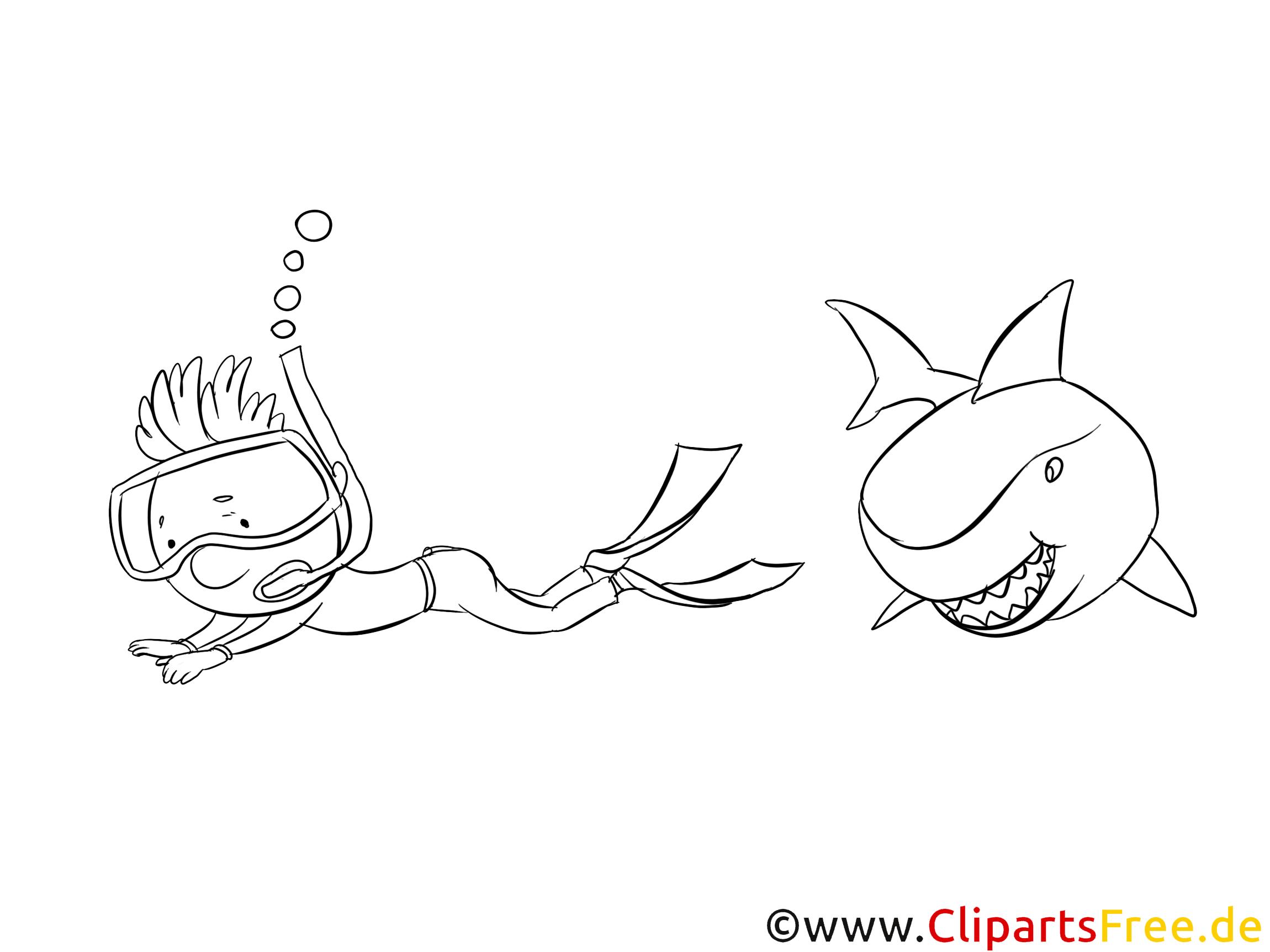 Requin clip art gratuit – Animal à imprimer