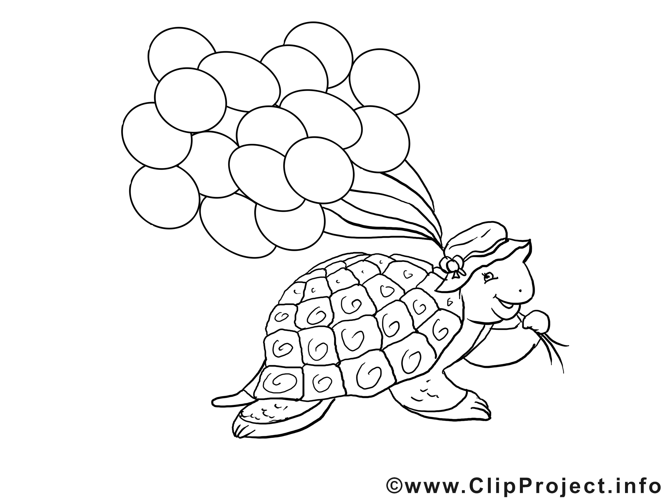 Tortue dessin gratuit – Animal à colorier