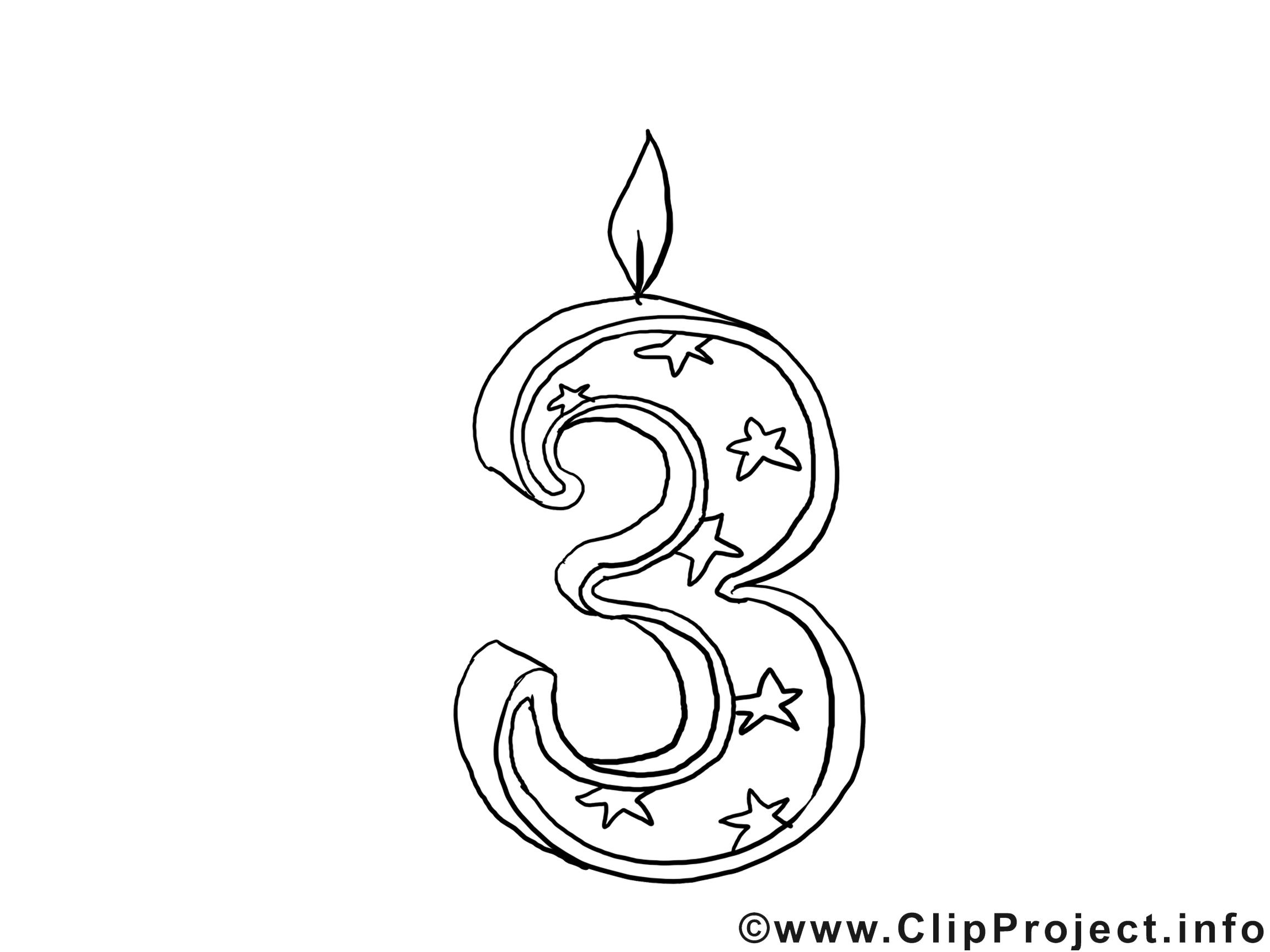 3 ans dessin gratuit anniversaire colorier anniversaire coloriages gratuit dessin picture - Coloriage 3 ans ...