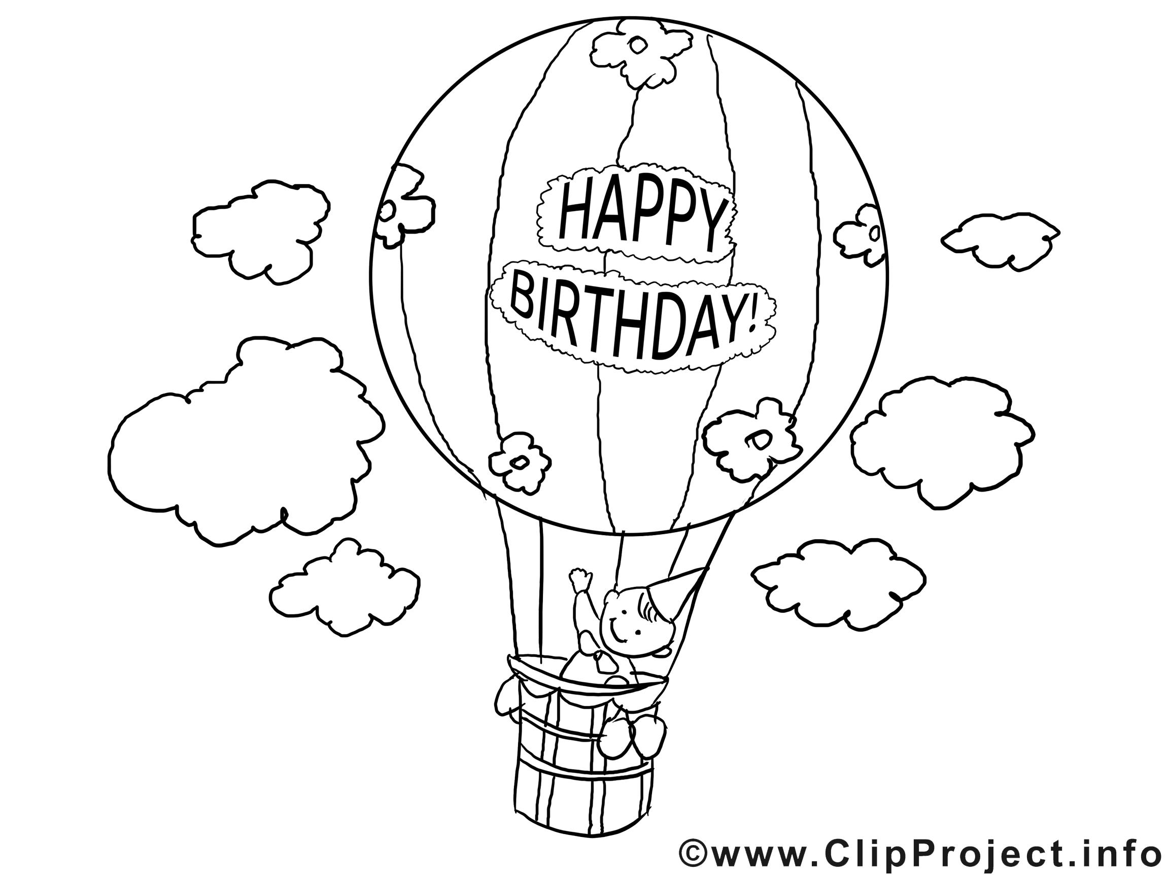 Ballon images – Anniversaire gratuit à imprimer   Anniversaire ...