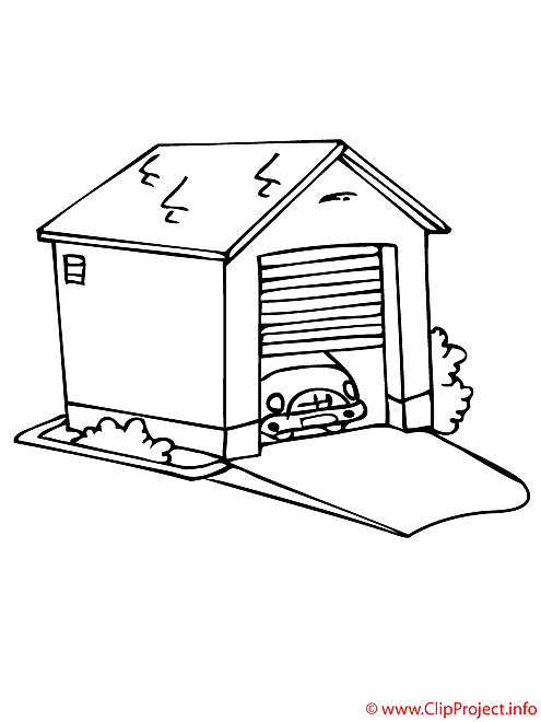 Garage coloriage gratuit architecture coloriages gratuit dessin picture image graphic clip - Dessin garage ...