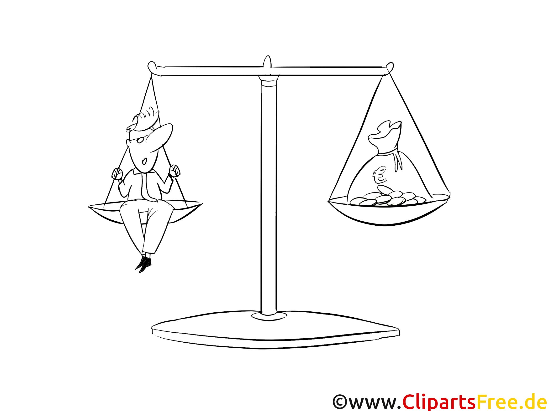 Balance images gratuites – Argent à colorier