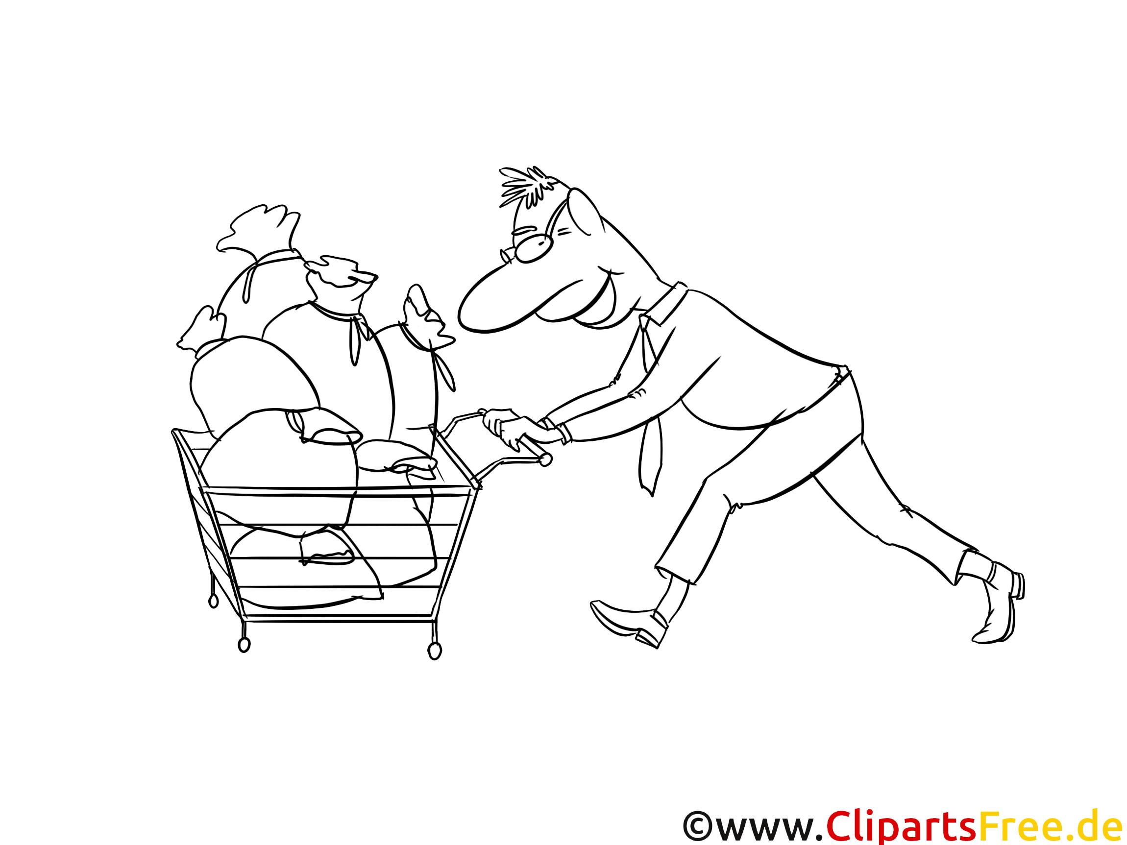 Chariot image gratuite – Argent à colorier