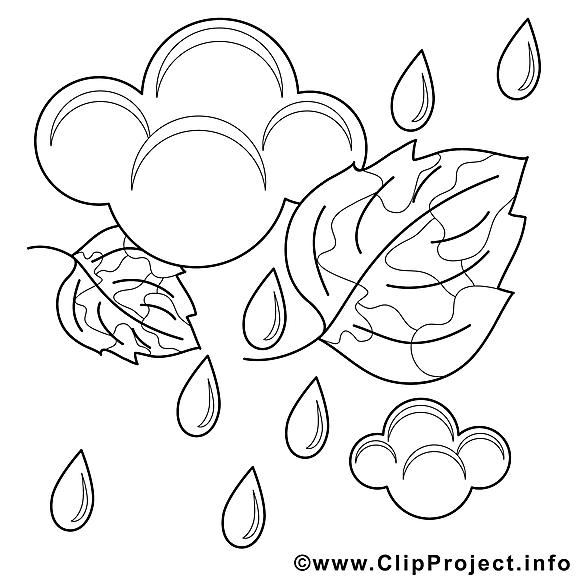 Pluie Dessin Automne Gratuits à Imprimer Automne Coloriages