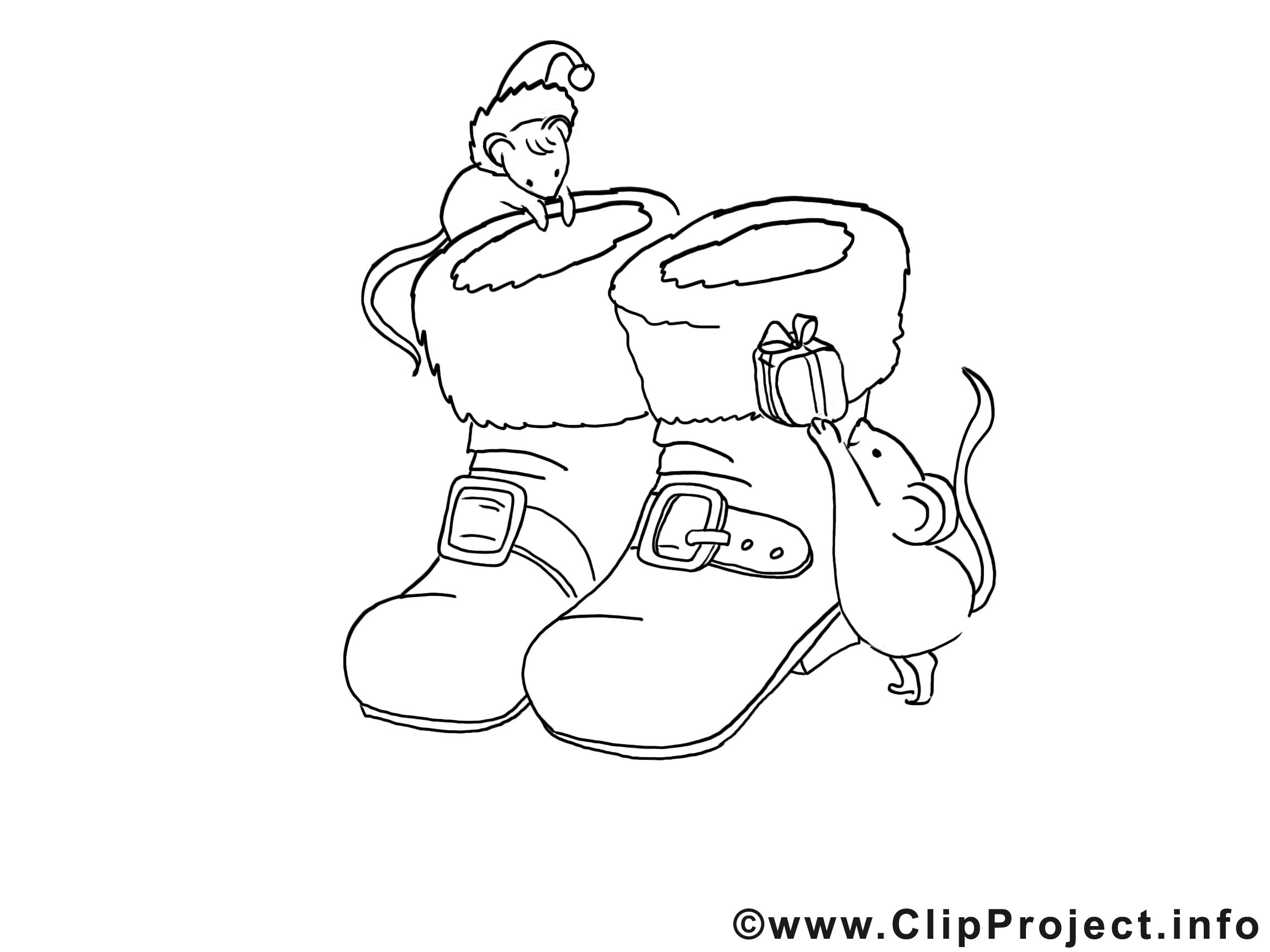 Bottes souris images gratuites – Avent à colorier