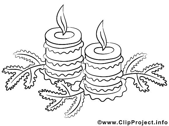 Bougies illustration – Noël à imprimer
