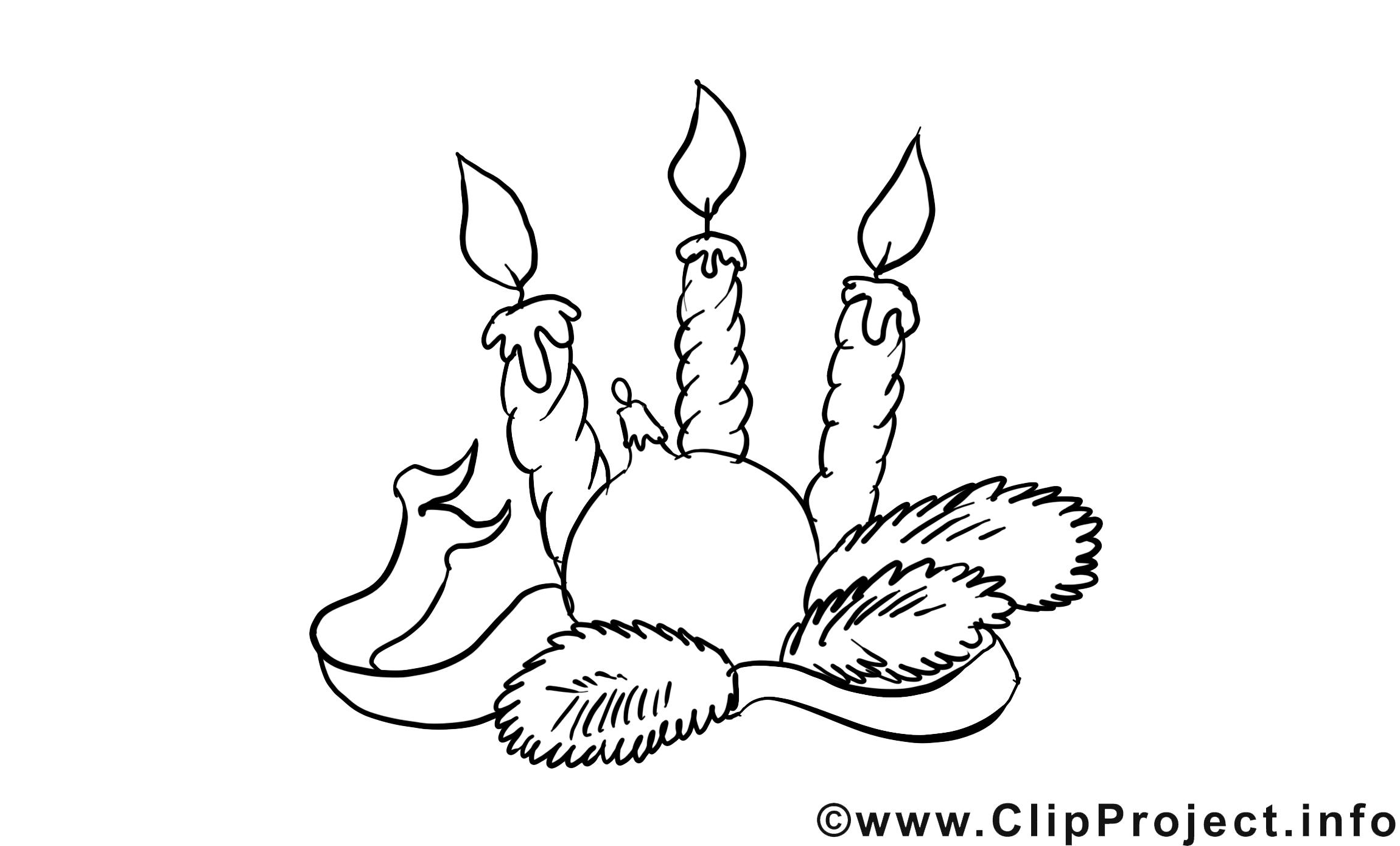 Bougies image à télécharger – Avent à colorier