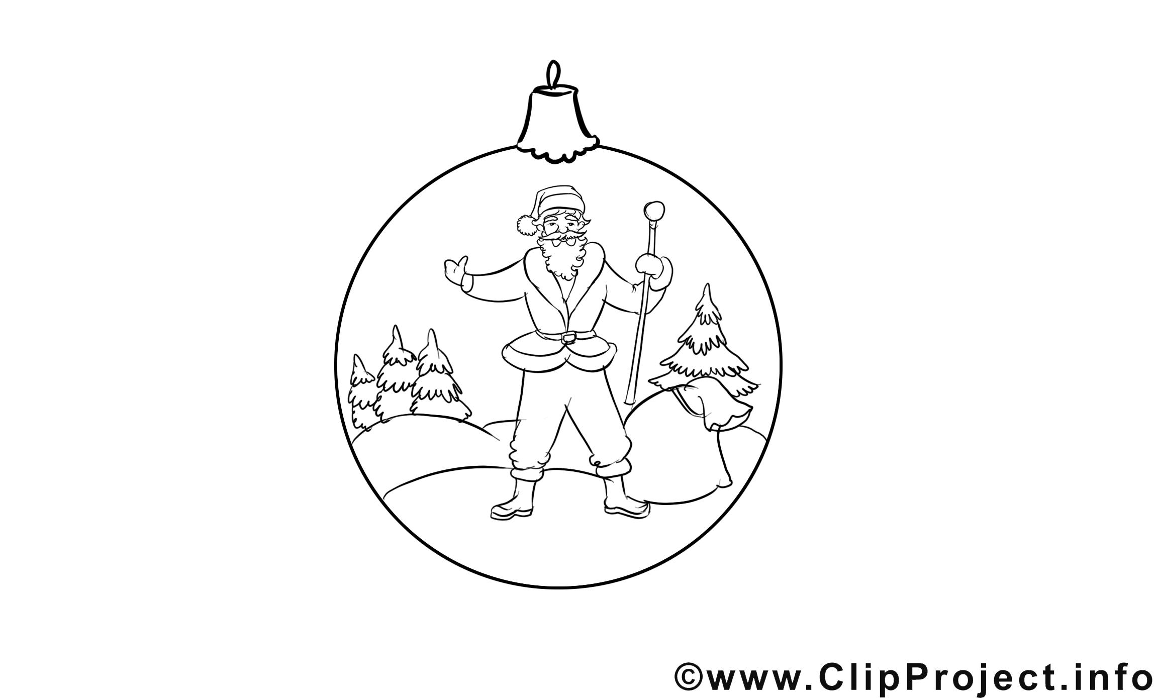 Boule de neige clip art – Avent image à colorier