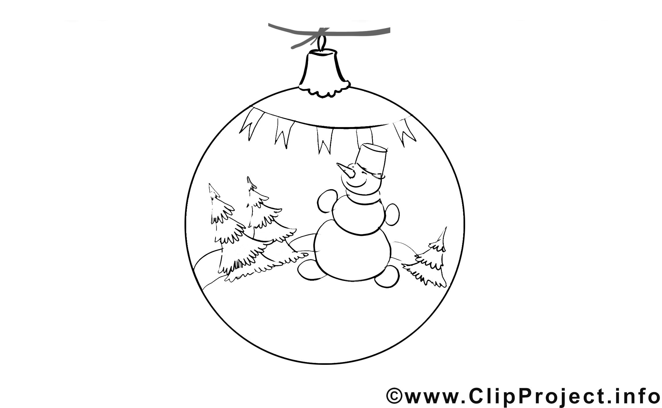 Boule de neige images gratuites – Avent à colorier