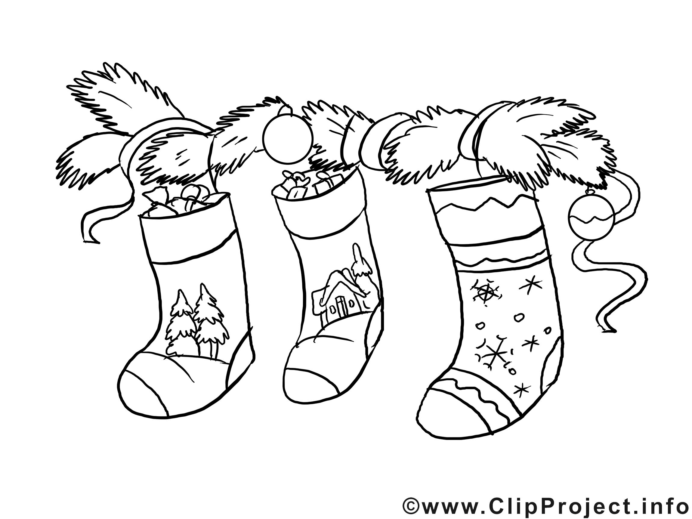 Chaussettes clip arts – Avent à imprimer
