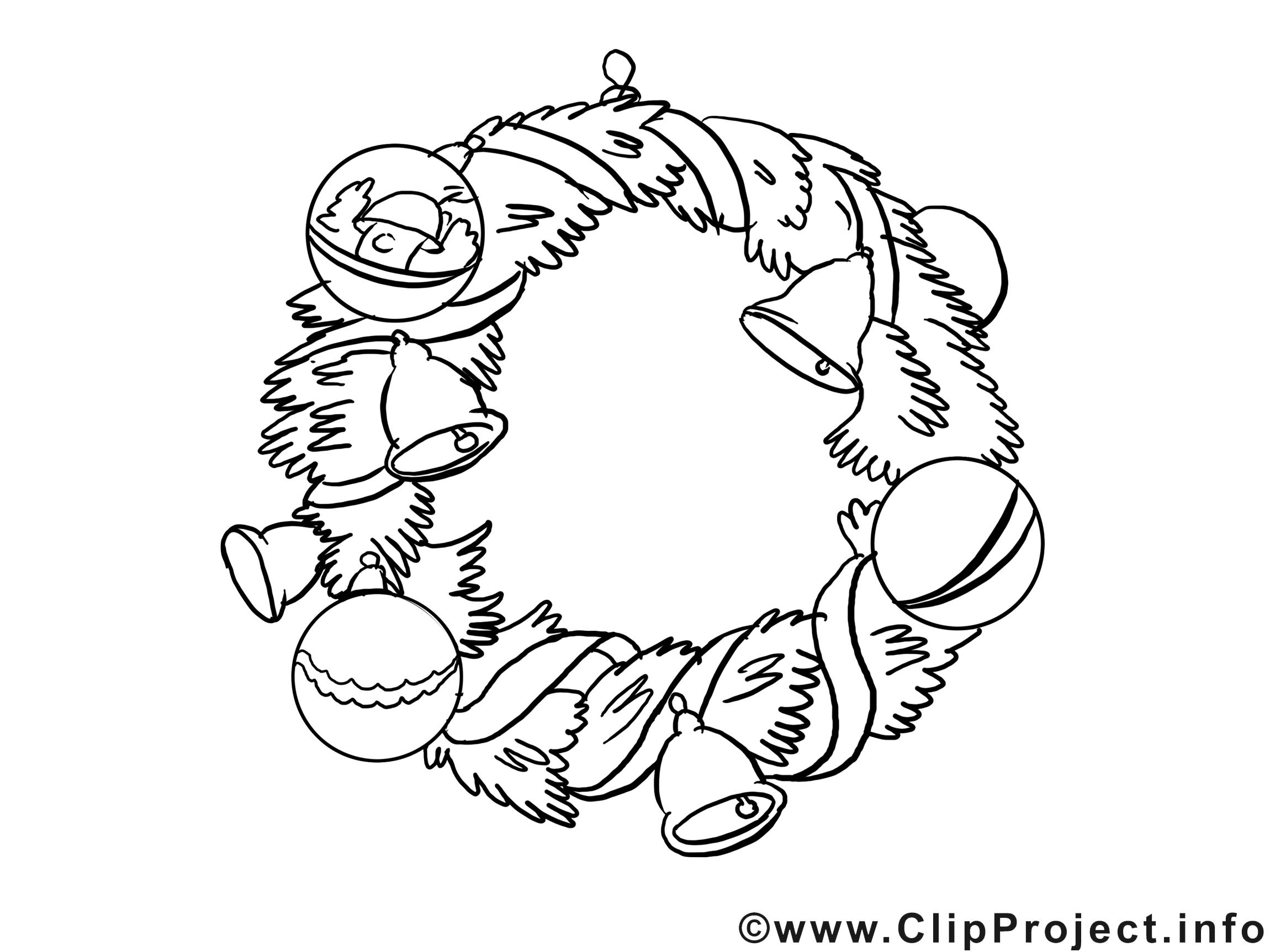 Clip art gratuit couronne – Avent à colorier