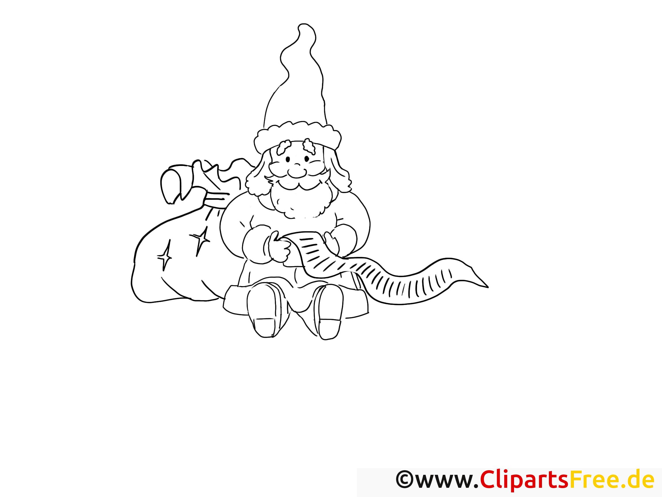 Clip art gratuit père noël – Avent à imprimer