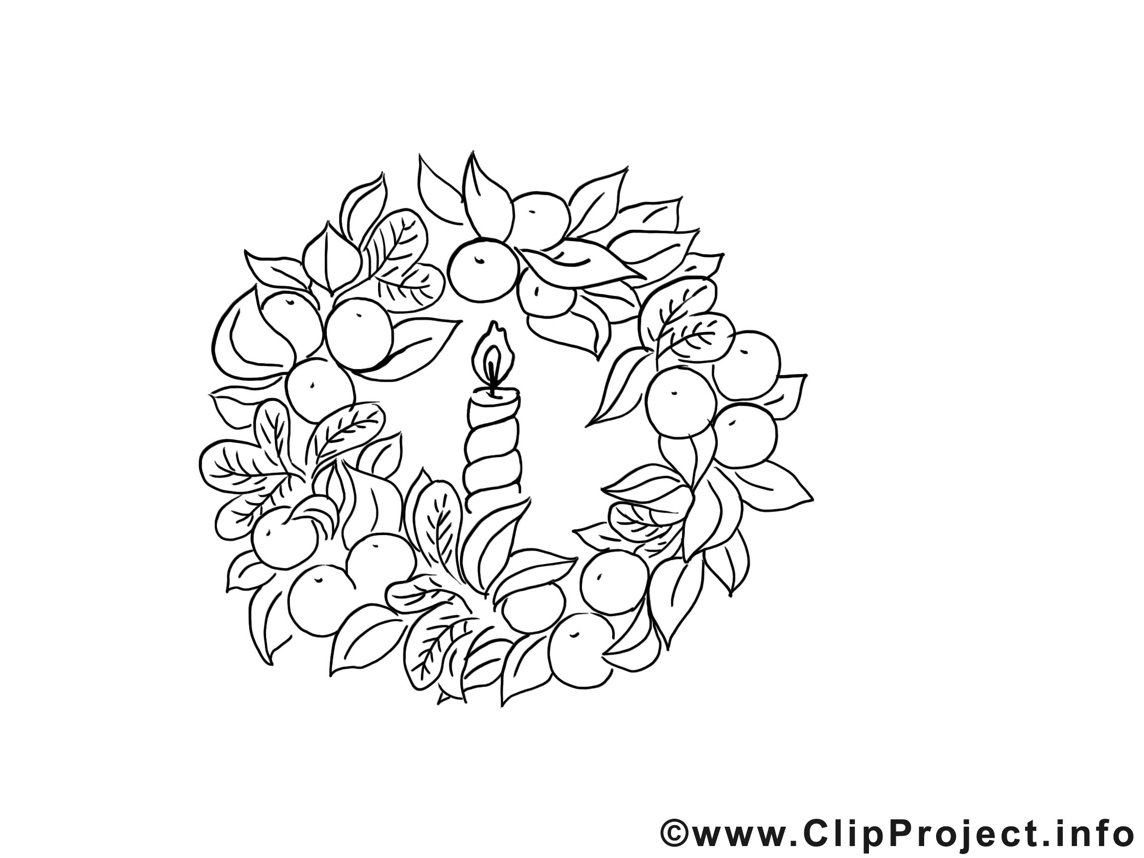 Couronne clipart – Avent dessins à colorier