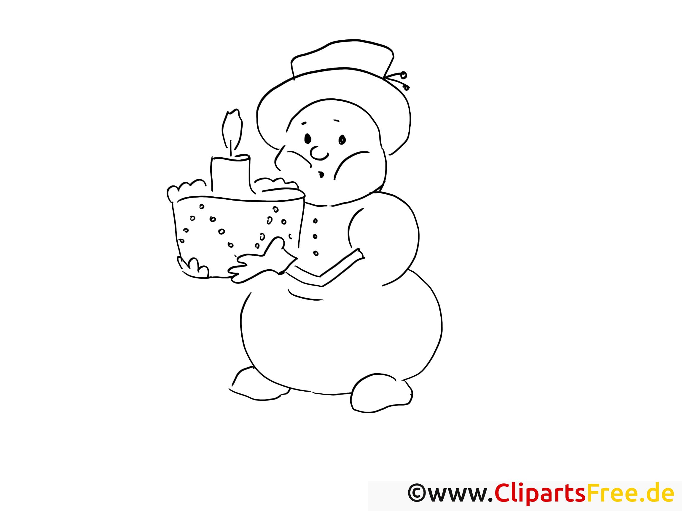 Gâteau image gratuite – Avent à imprimer