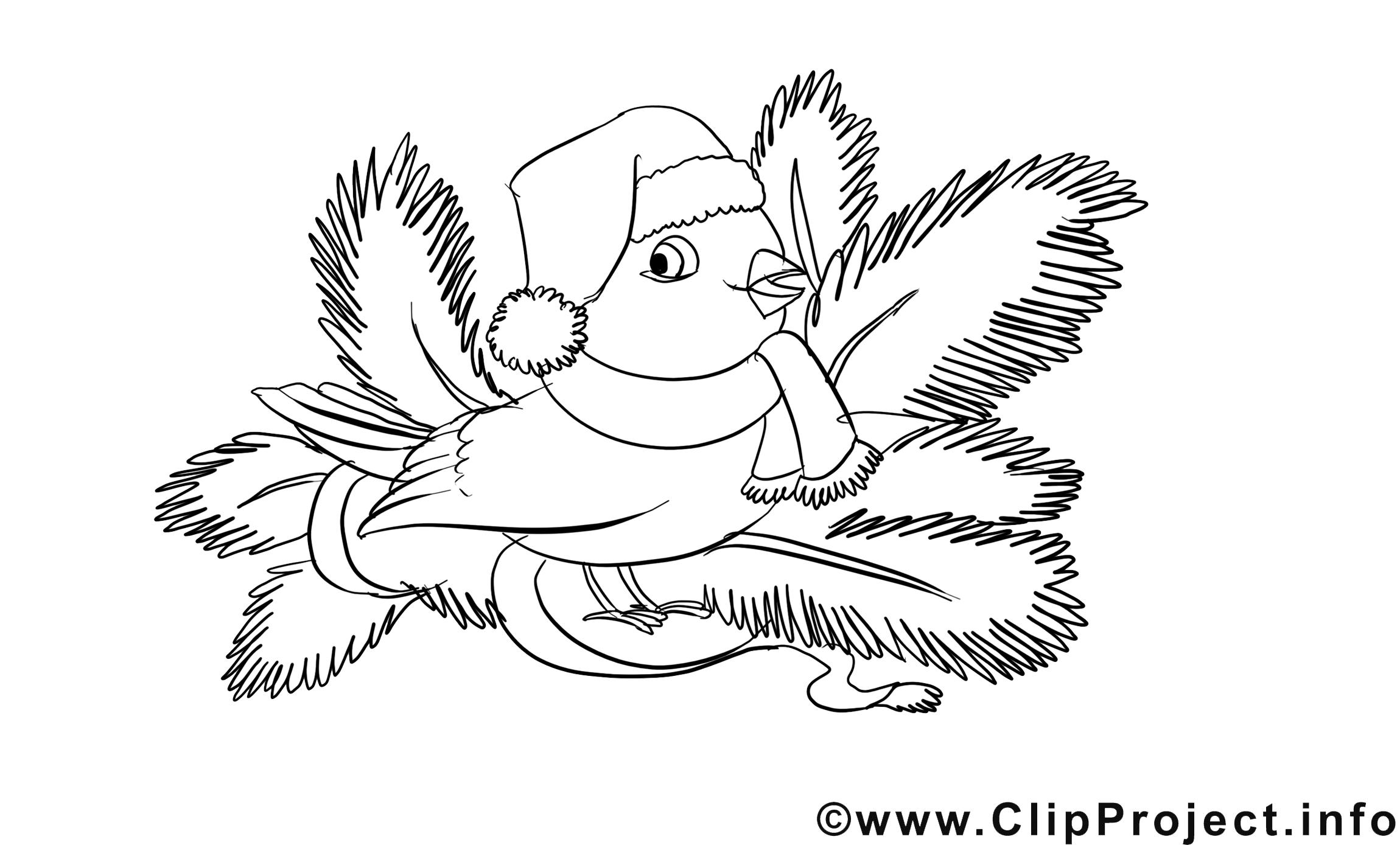 Oiseau image – Avent images à colorier