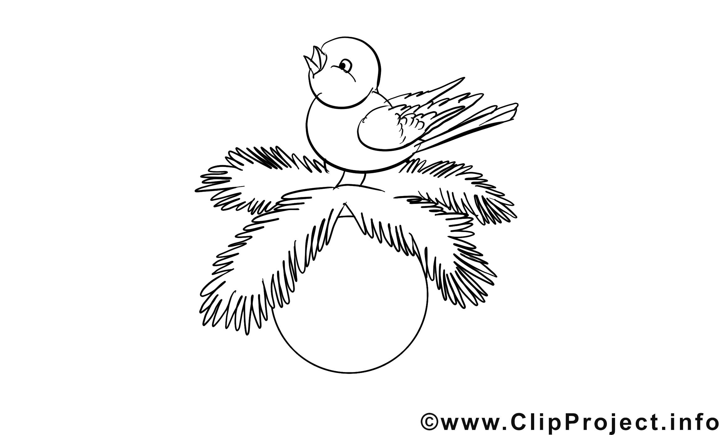 Oiseau image gratuite – Avent à colorier