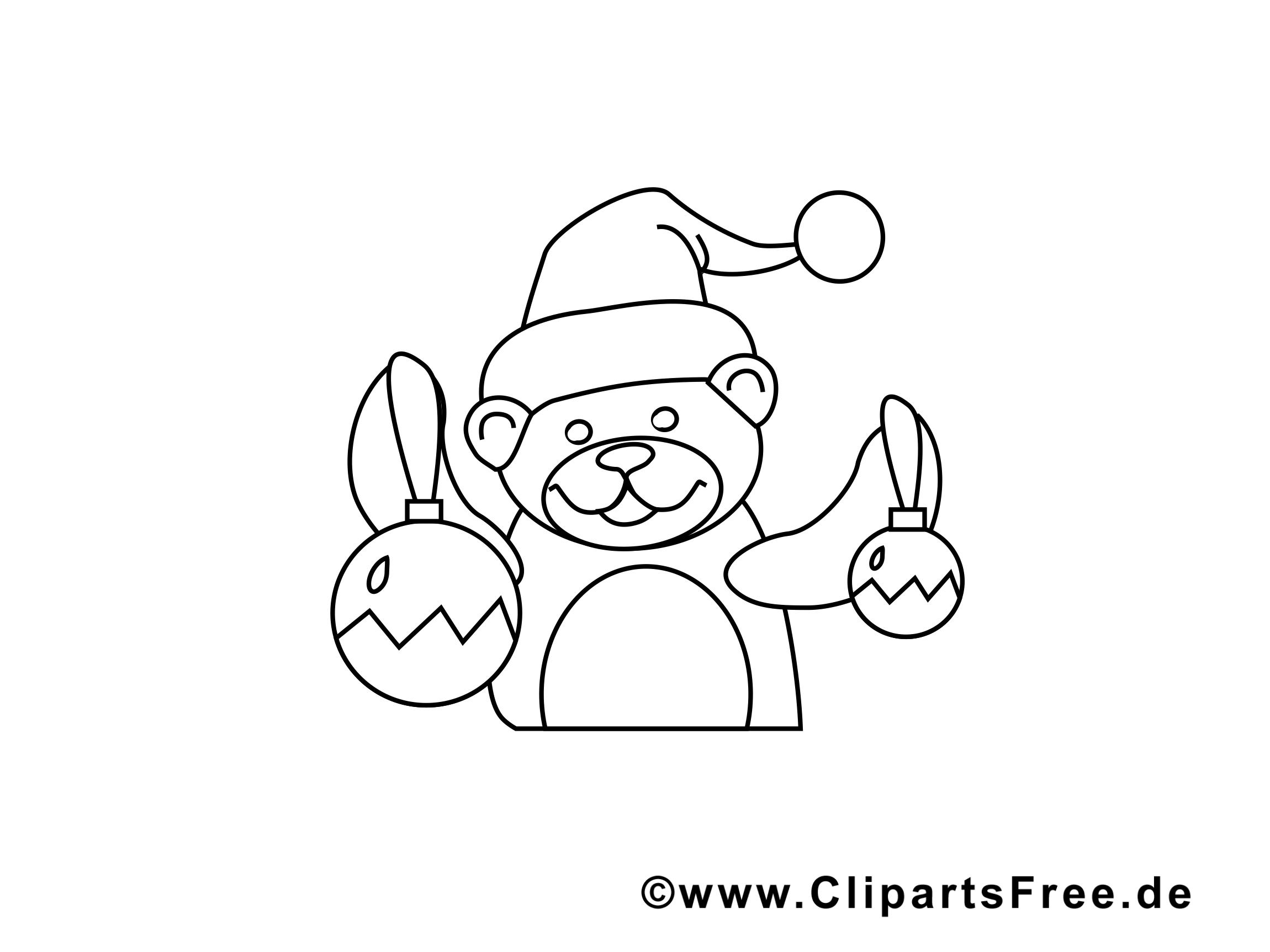 Ours dessin gratuit – Avent à colorier