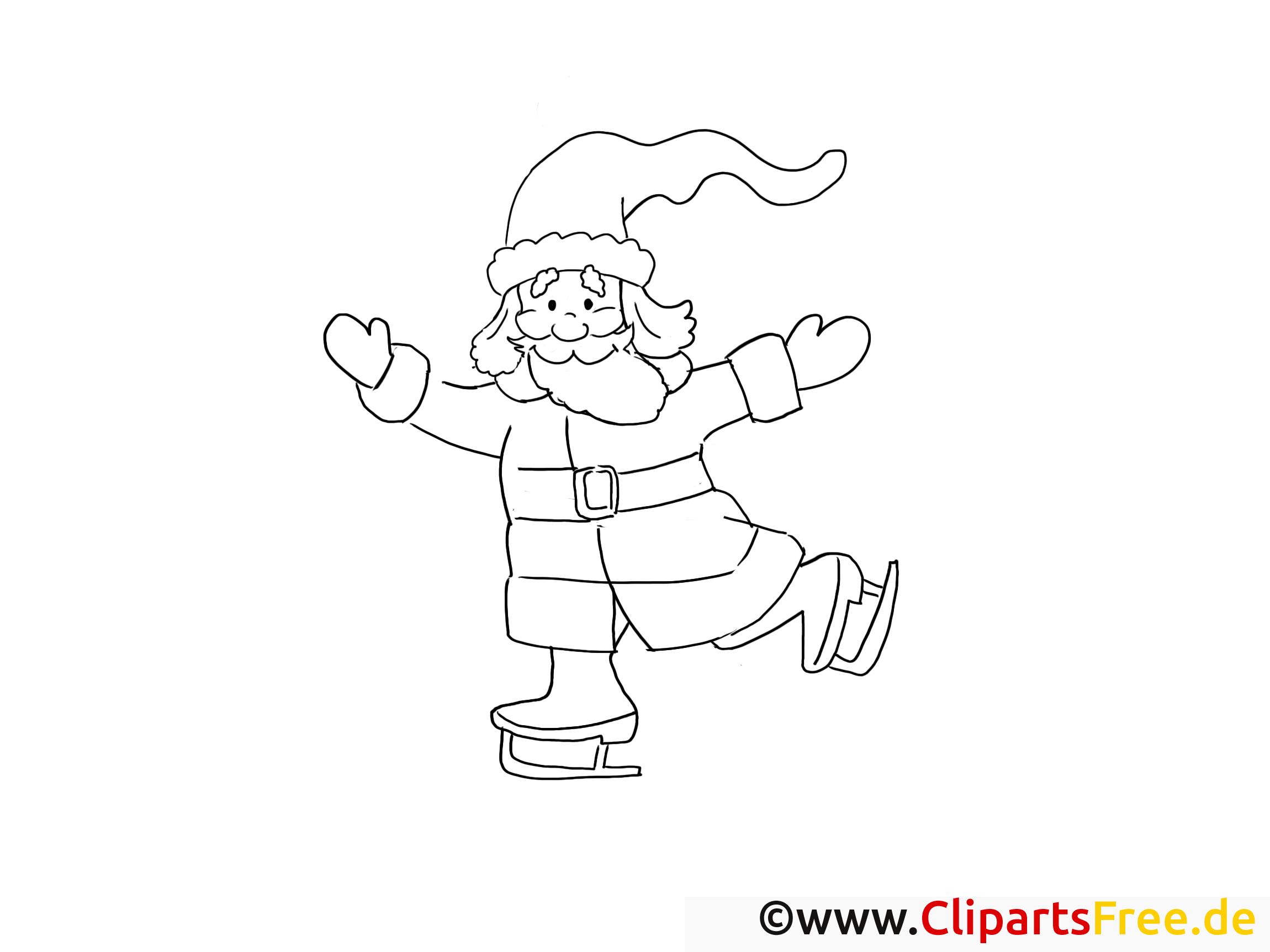 Patins à glace illustration – Avent à colorier