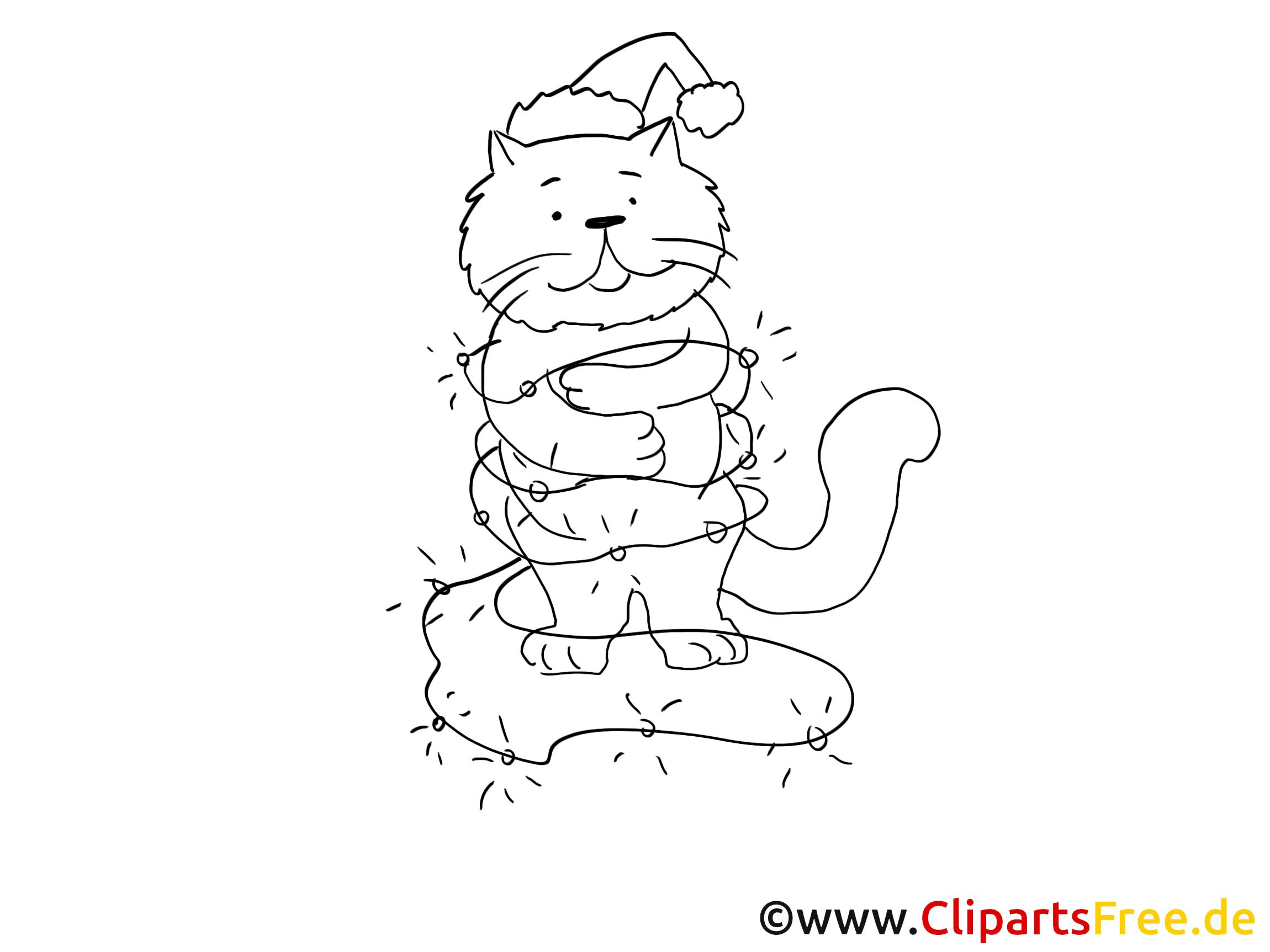 Chats à colorier dessin gratuit à télécharger