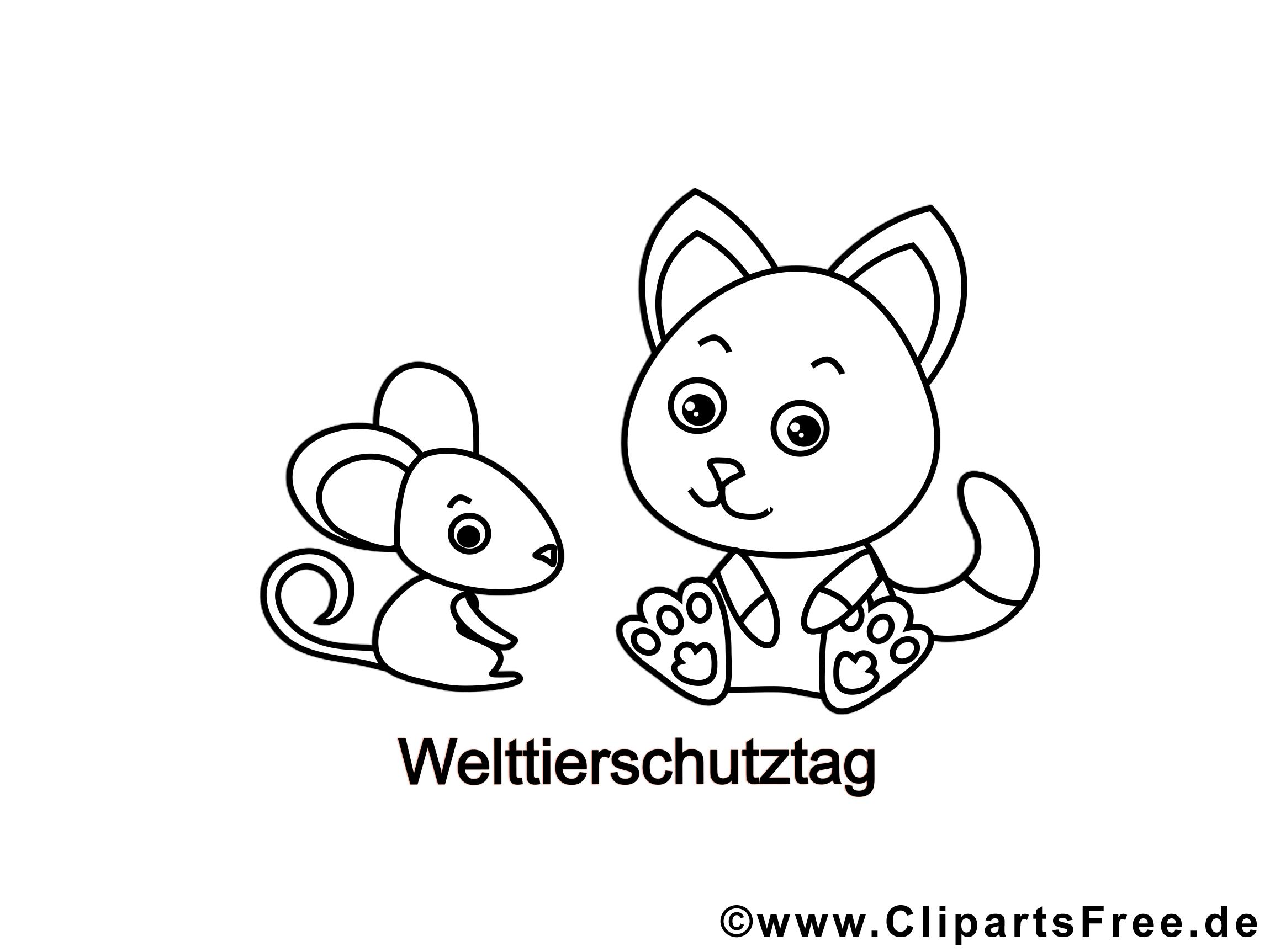 Coloriage chats illustration à télécharger