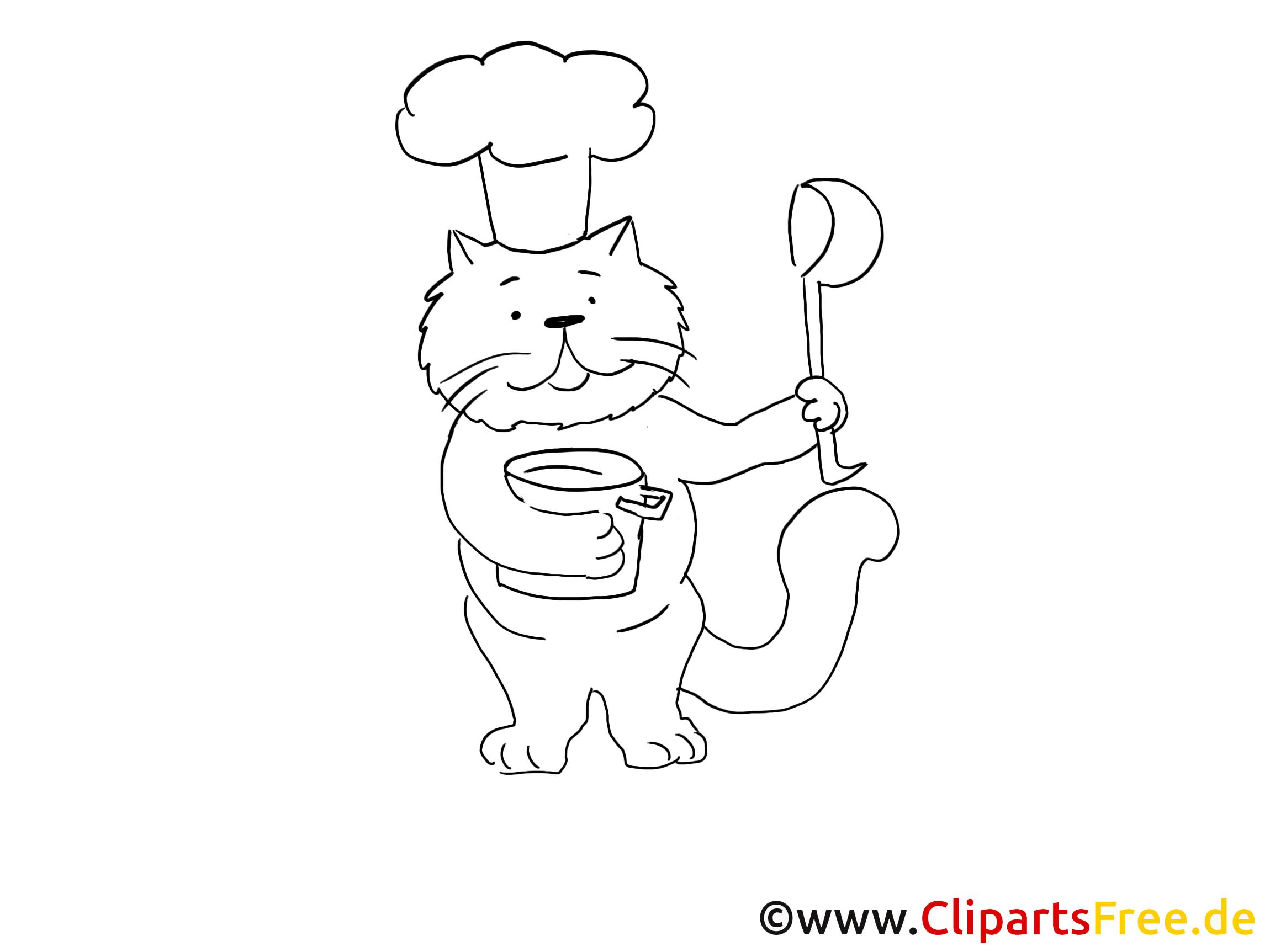 Cuisinier dessin – Chats gratuits à imprimer