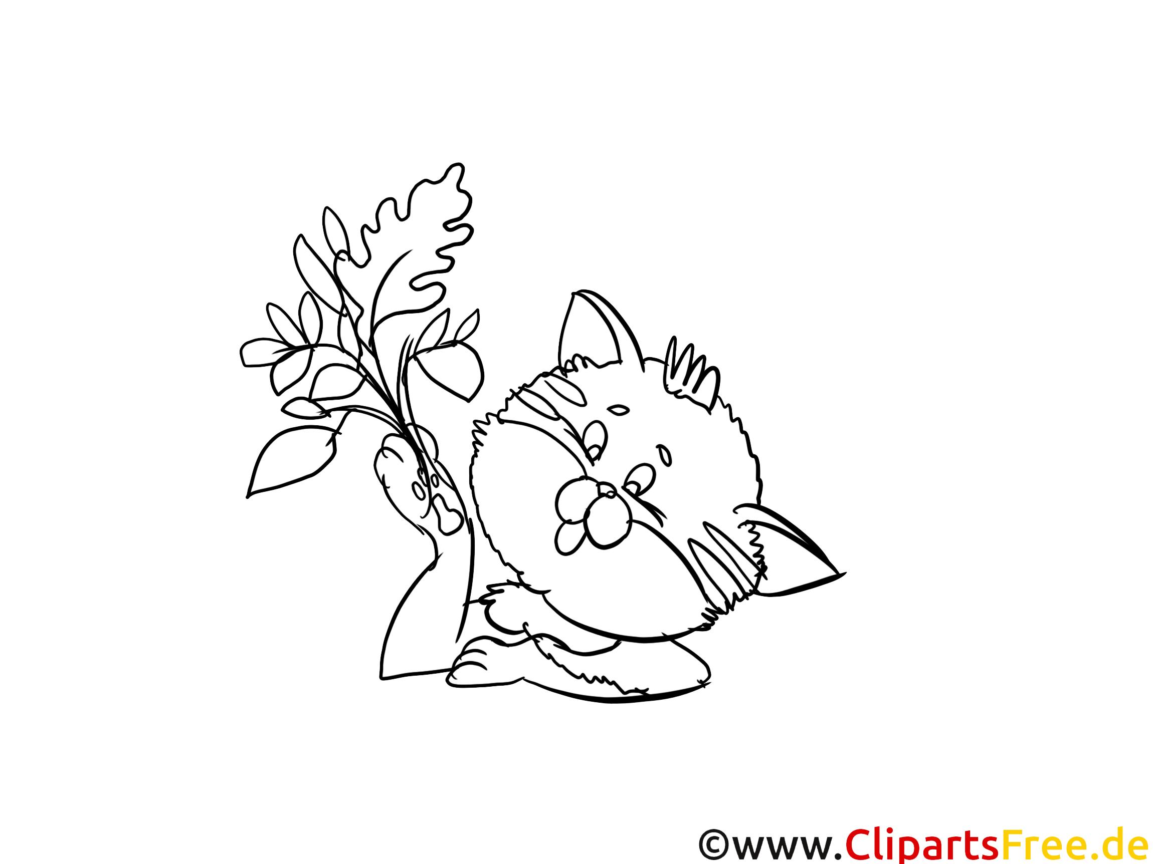 Fleur clipart – Chats dessins à colorier
