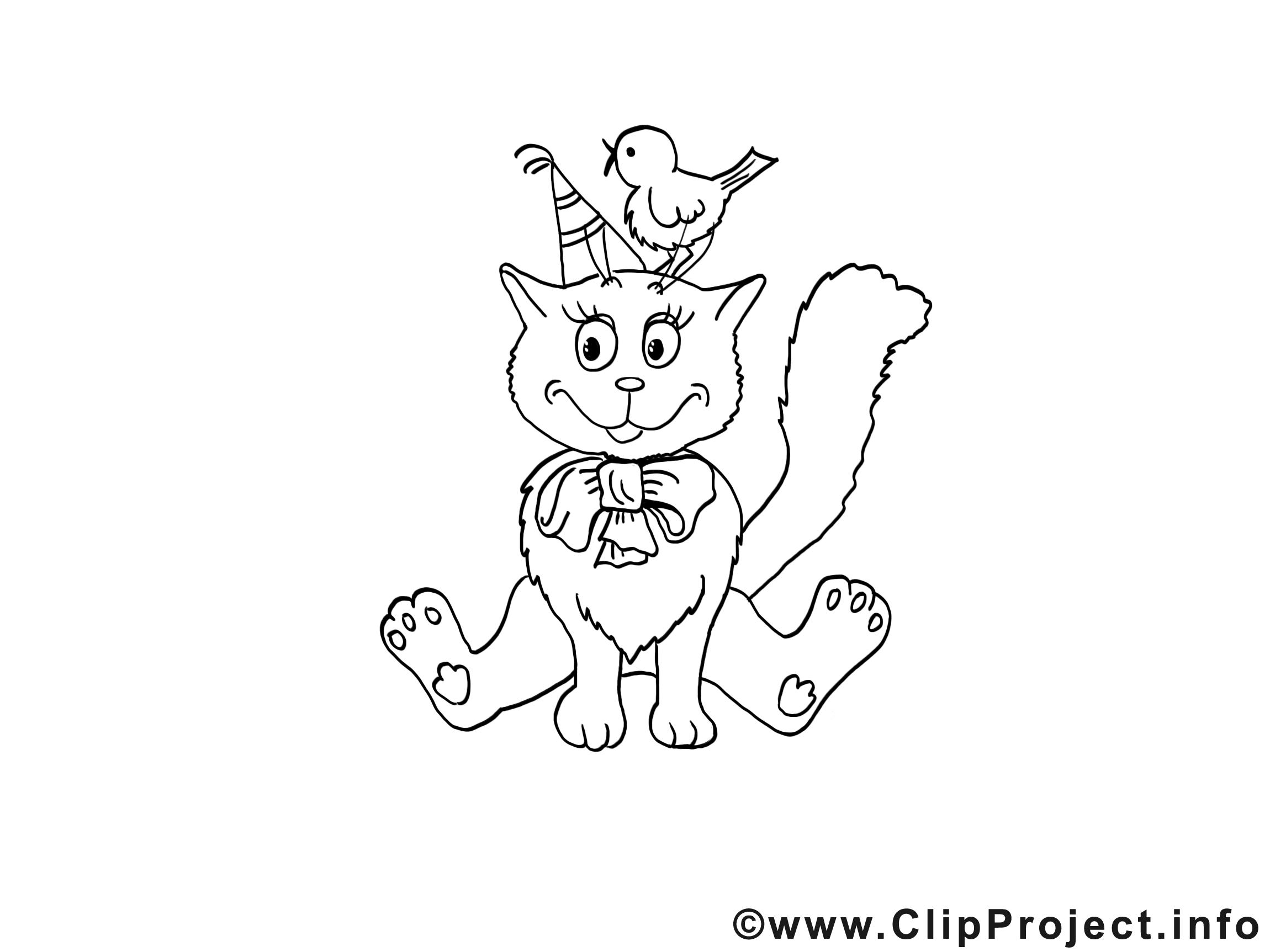 Oiseau dessins gratuits – Chats à colorier