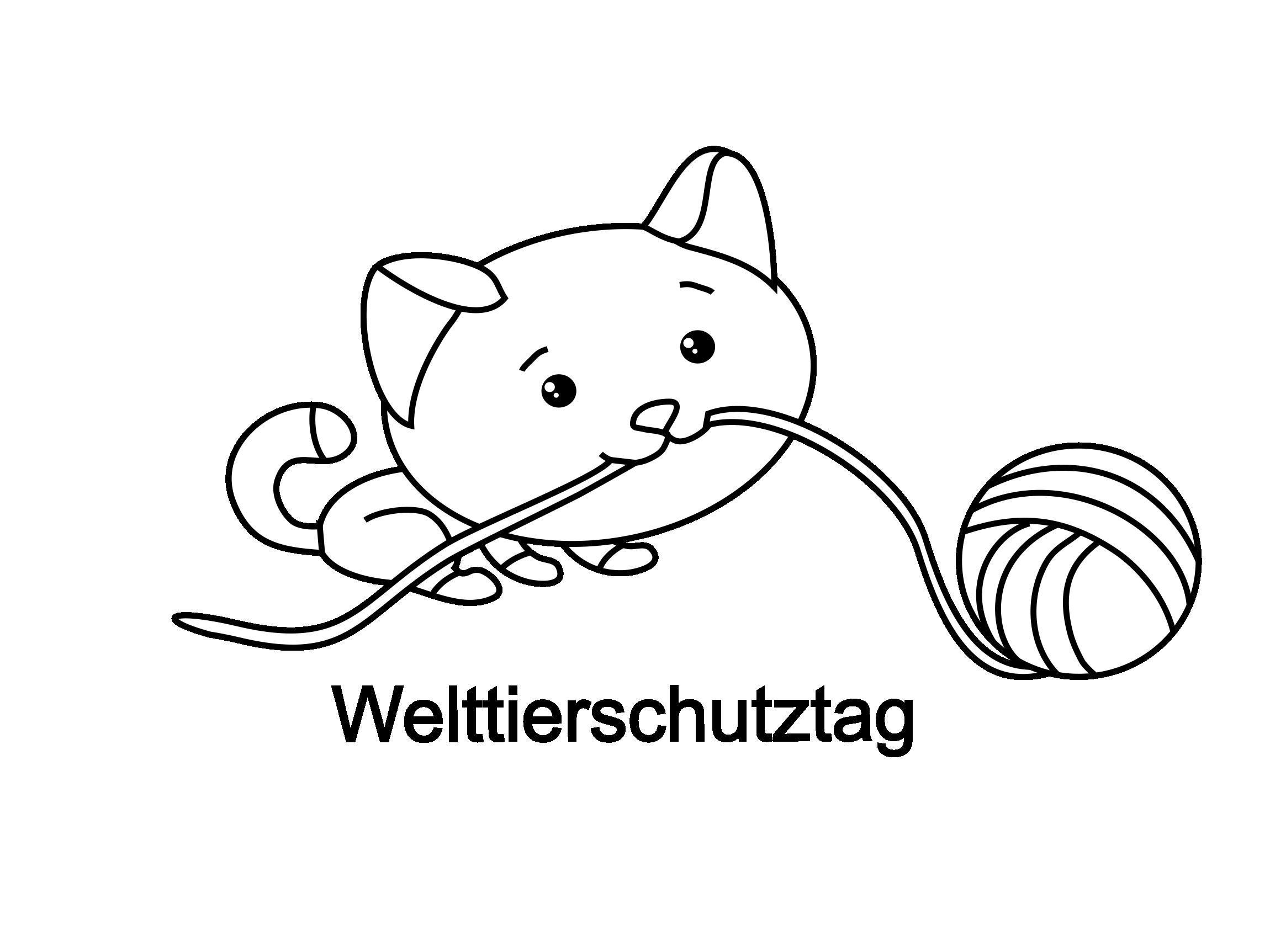 Pelote de laine clip art – Chats image à colorier