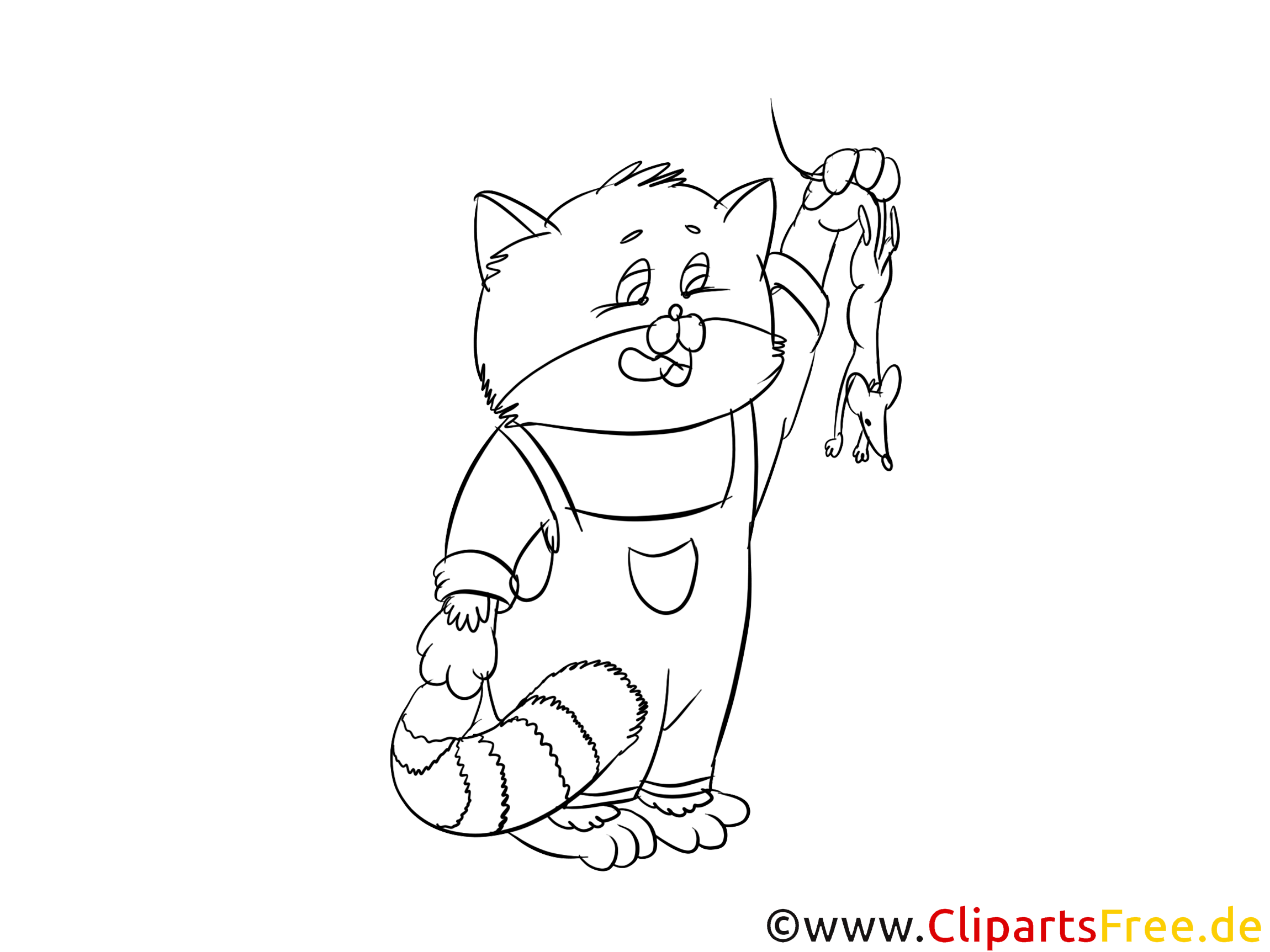 Souris image gratuite – Chats à colorier