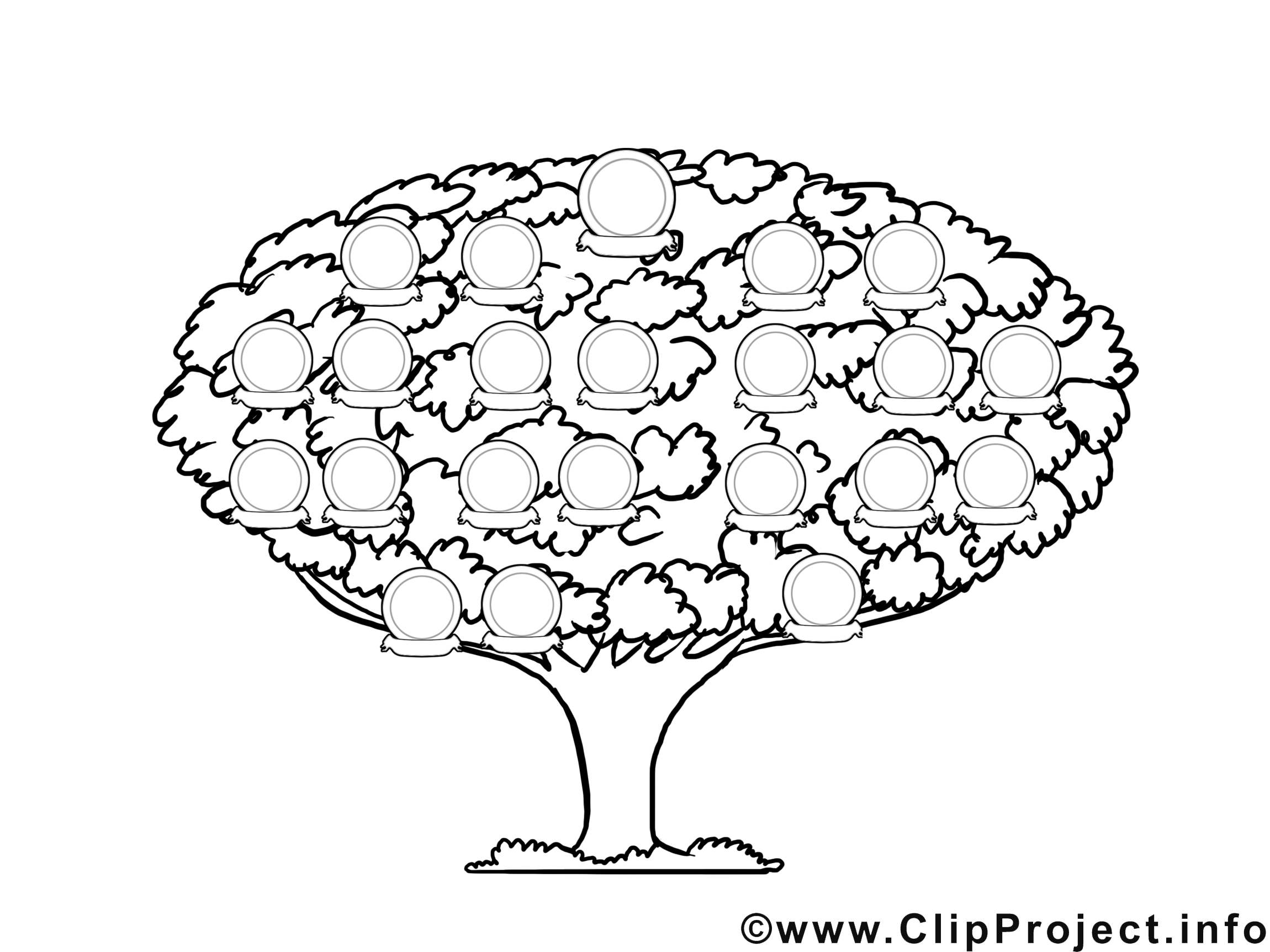 Coloriage Arbre Genealogique.Arbre Genealogique Dessin Divers A Colorier Coloriages A
