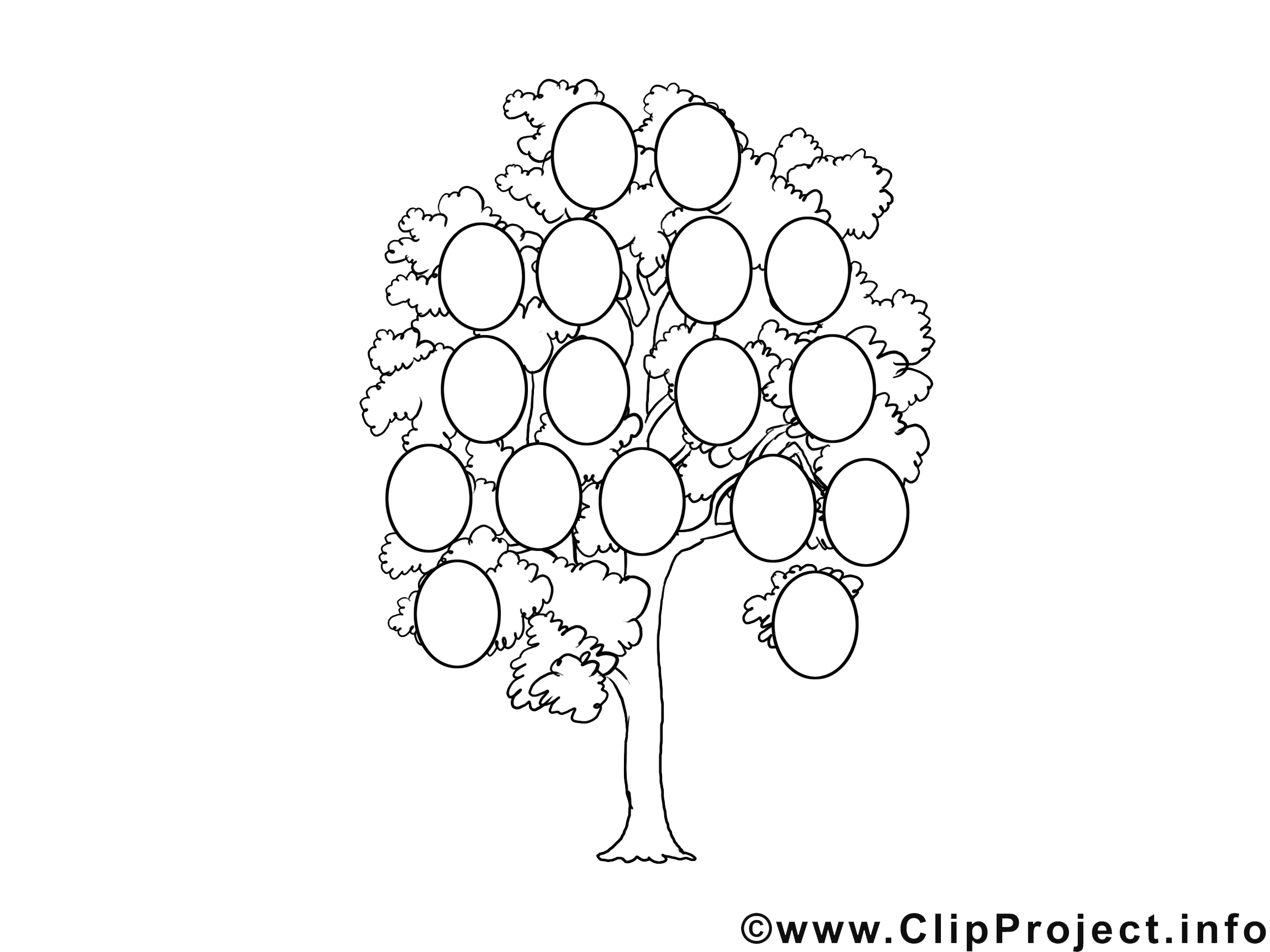 Coloriage Arbre Genealogique.Arbre Genealogique Illustration Divers A Colorier
