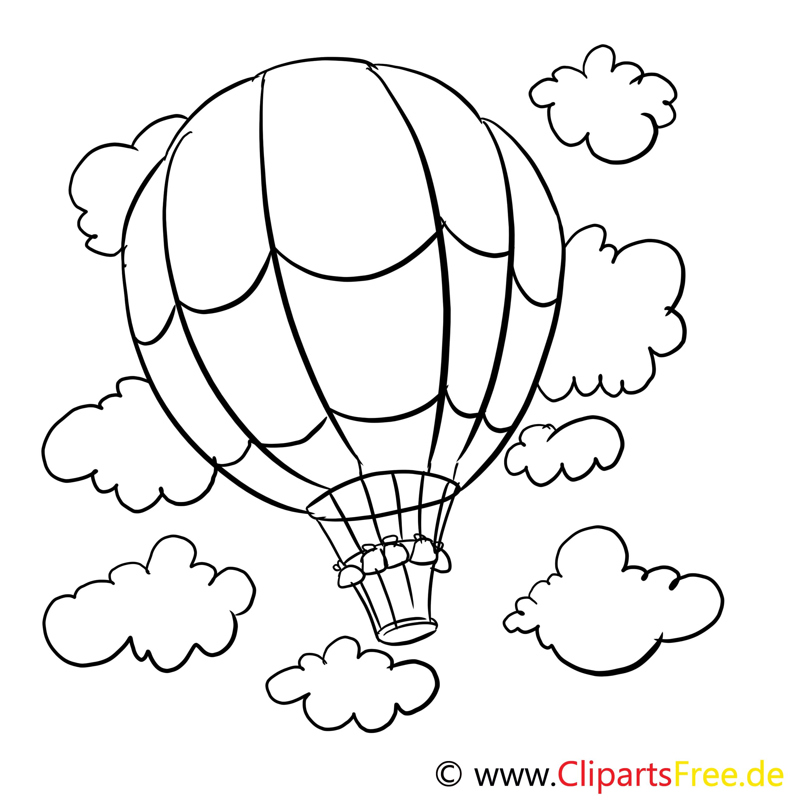 Ballon clip art – Divers image à colorier