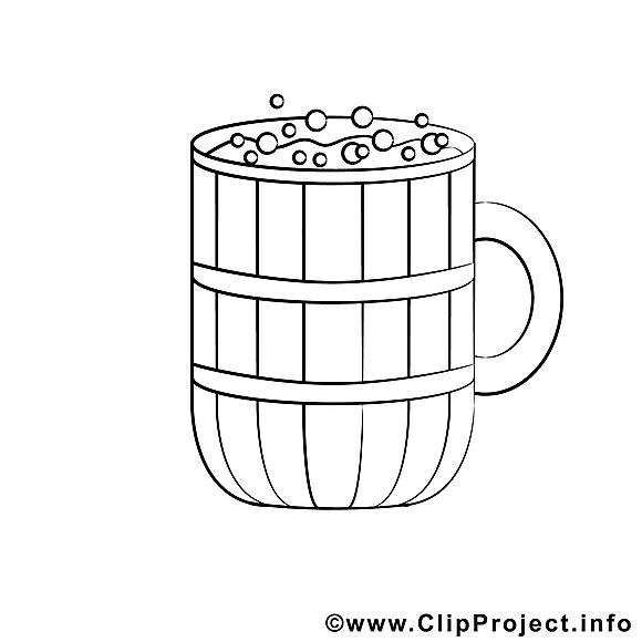 Bière clip art gratuit – Divers à colorier